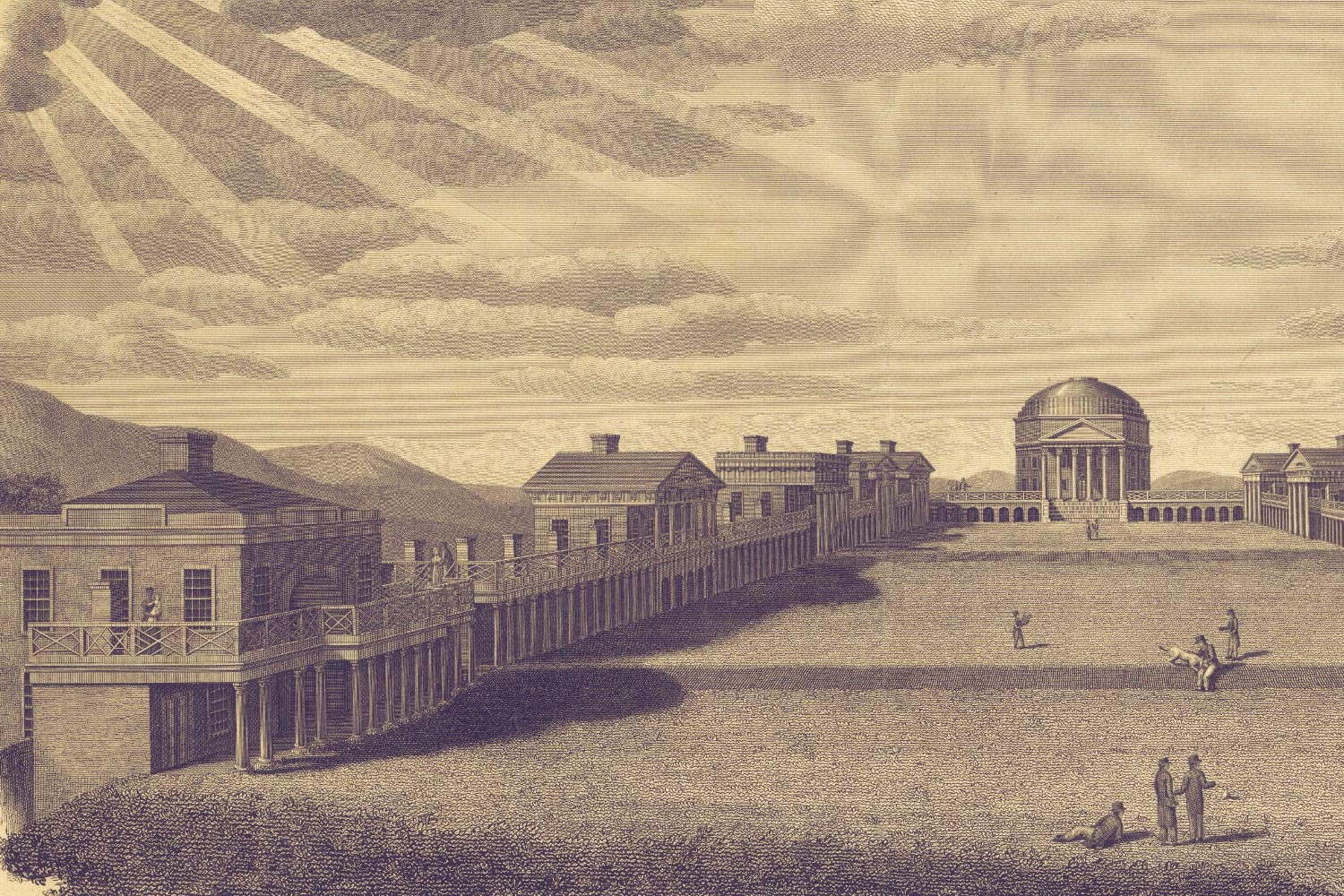 Detail from engraving by B. Tanner, 1827.