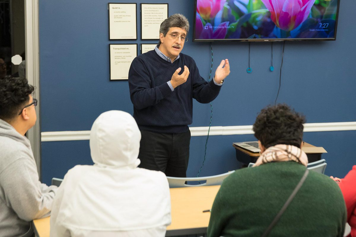 Associate professor of medicine Dr. Max Luna, the director of the Latino Health Initiative, took part in an event put on by UVA's new Equity Center on Wednesday night.