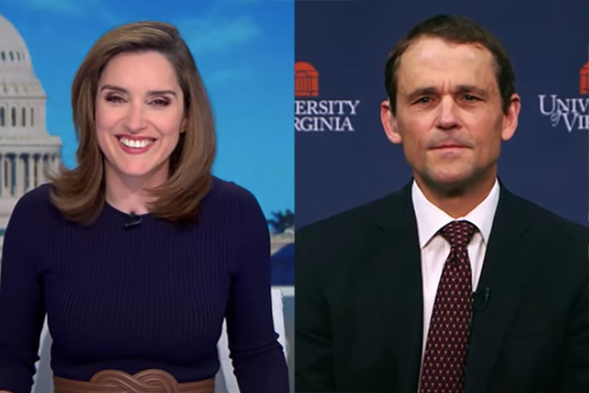 """UVA President Jim Ryan made an appearance on CBS's """"Face the Nation"""" Sunday morning, talking with anchor and UVA alumna Margaret Brennan."""