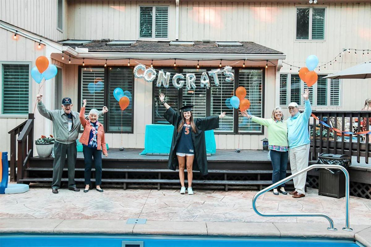 Graduate Abby Bostian's family surprised her with a backyard celebration. (Contributed photo)