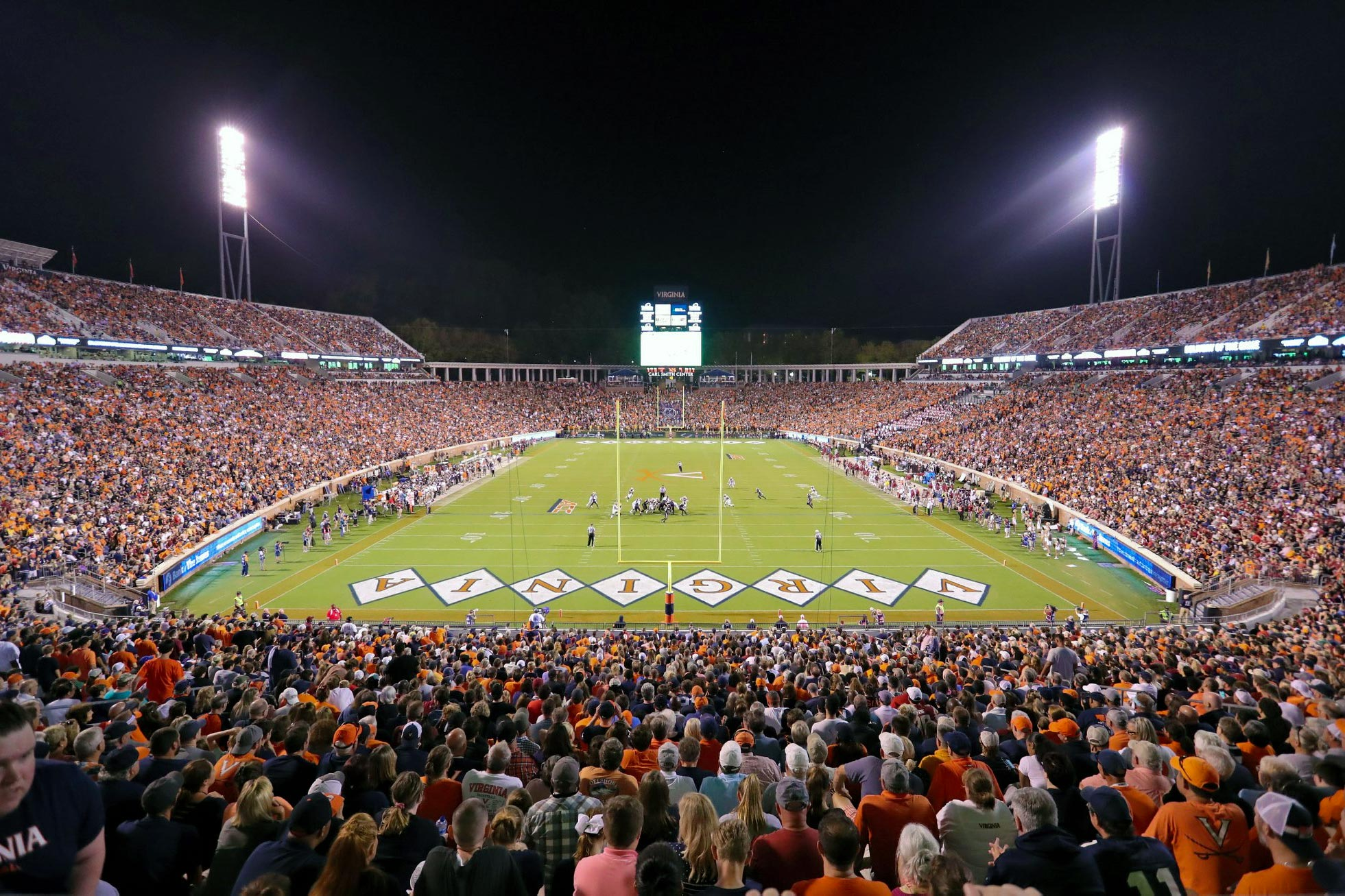 UVA head football coach Bronco Mendenhall is hoping for huge crowds as the Cavaliers host six home games in 2020.