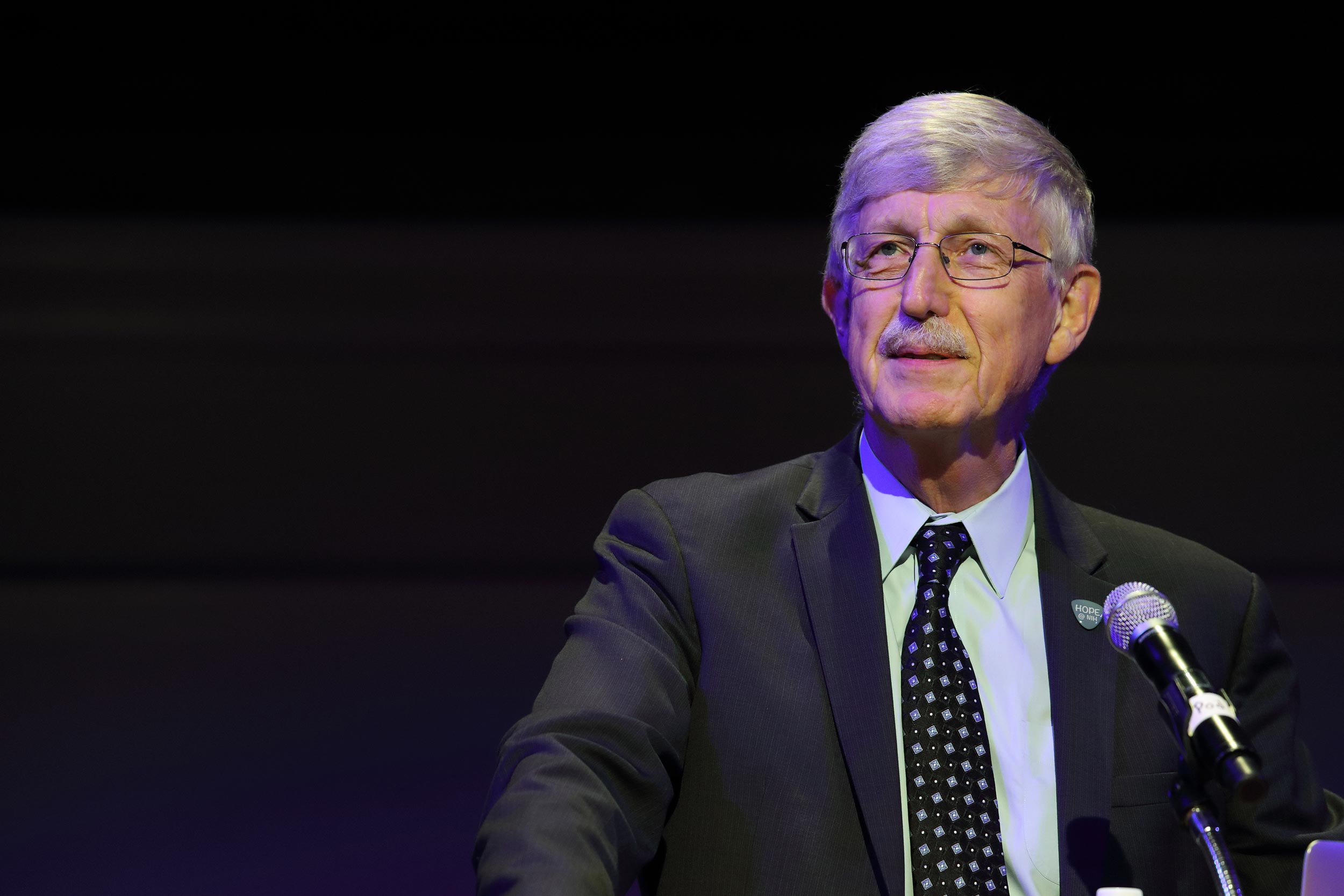 Dr. Francis S. Collins served as director of the National Human Genome Research Institute and is currently director of the National Institutes of Health.