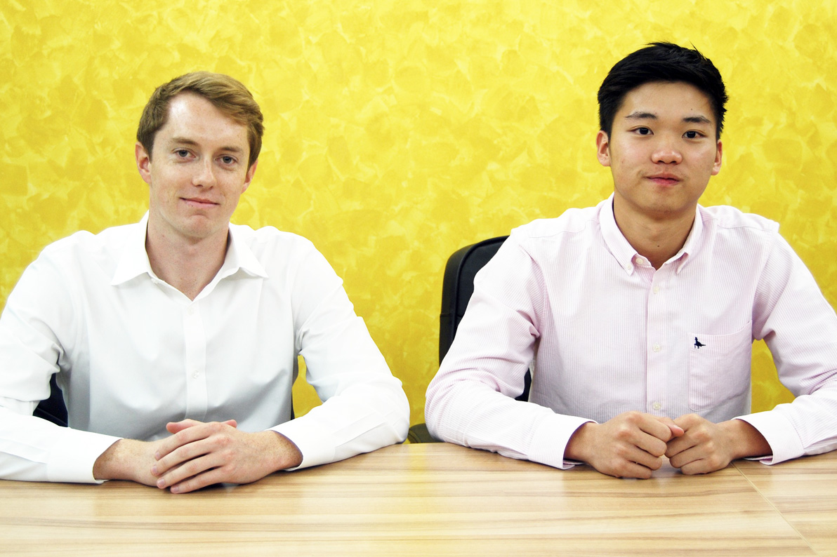 """UVA alumni Keegan Flynn, left and Garvy Beh are the driving forces behind Doctor2U, which Flynn describes as """"Uber for doctors."""""""
