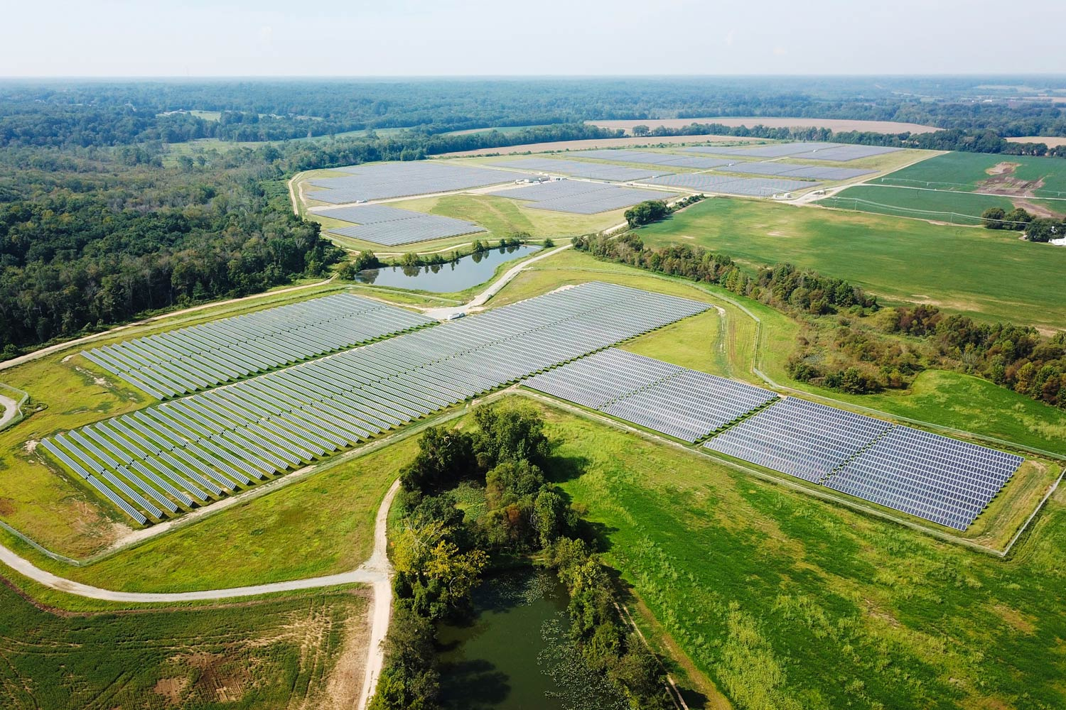 The 160-acre solar facility in King William County features approximately 65,000 solar panels, enough to power about 4,250 homes at peak output.