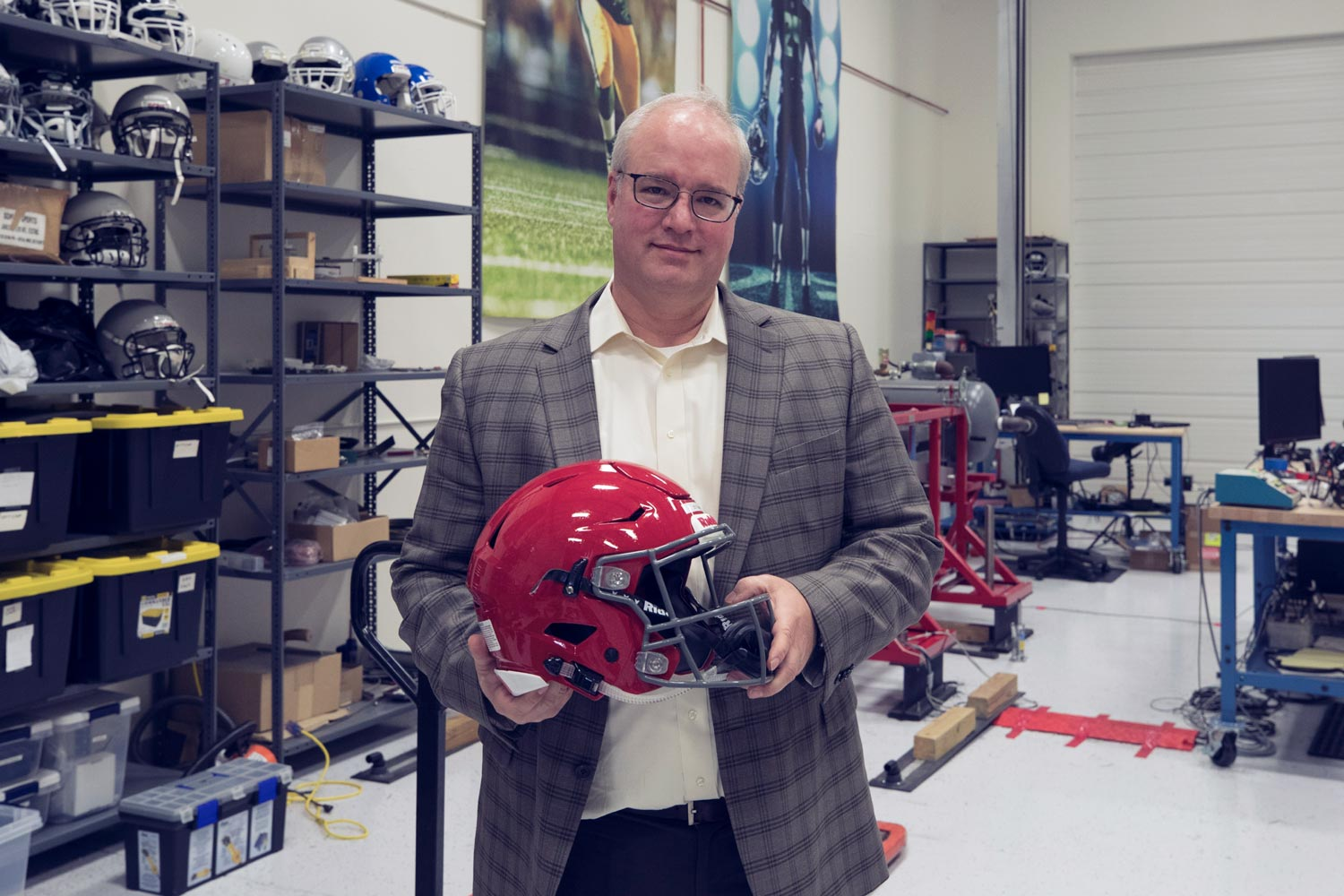 Biomechanical engineer Jeff Crandall has conducted equipment tests for the NFL for a decade now.