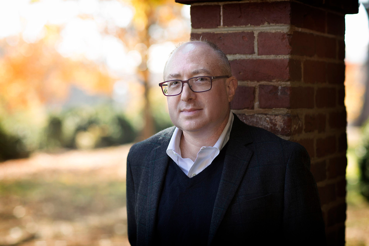 Jeff Olick said German leaders have used different themes in talking about the Nazis and World War II. (Photo by Dan Addison, University Communications)