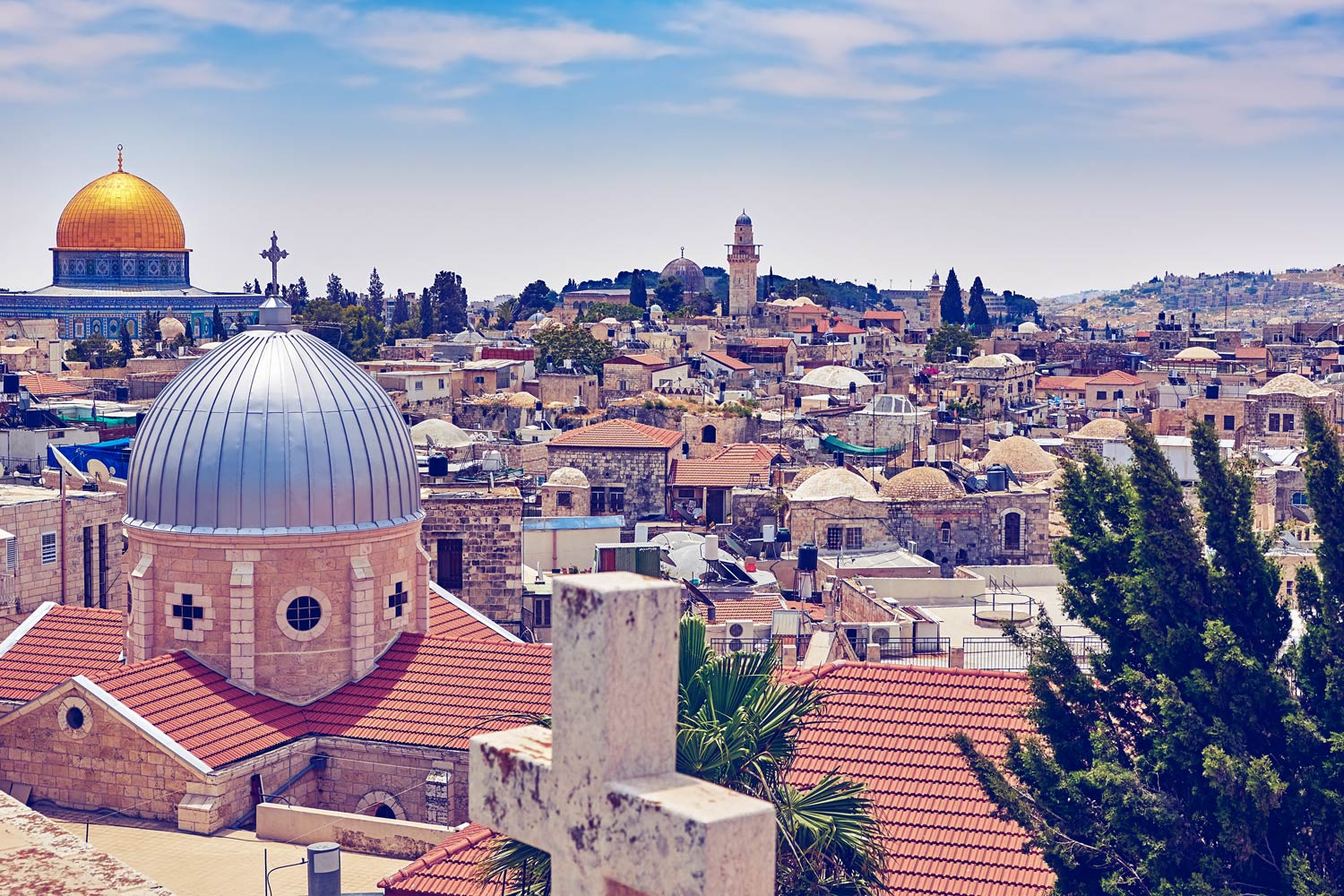 Jerusalem is claimed as a holy site by Jews, Christians and Muslims.