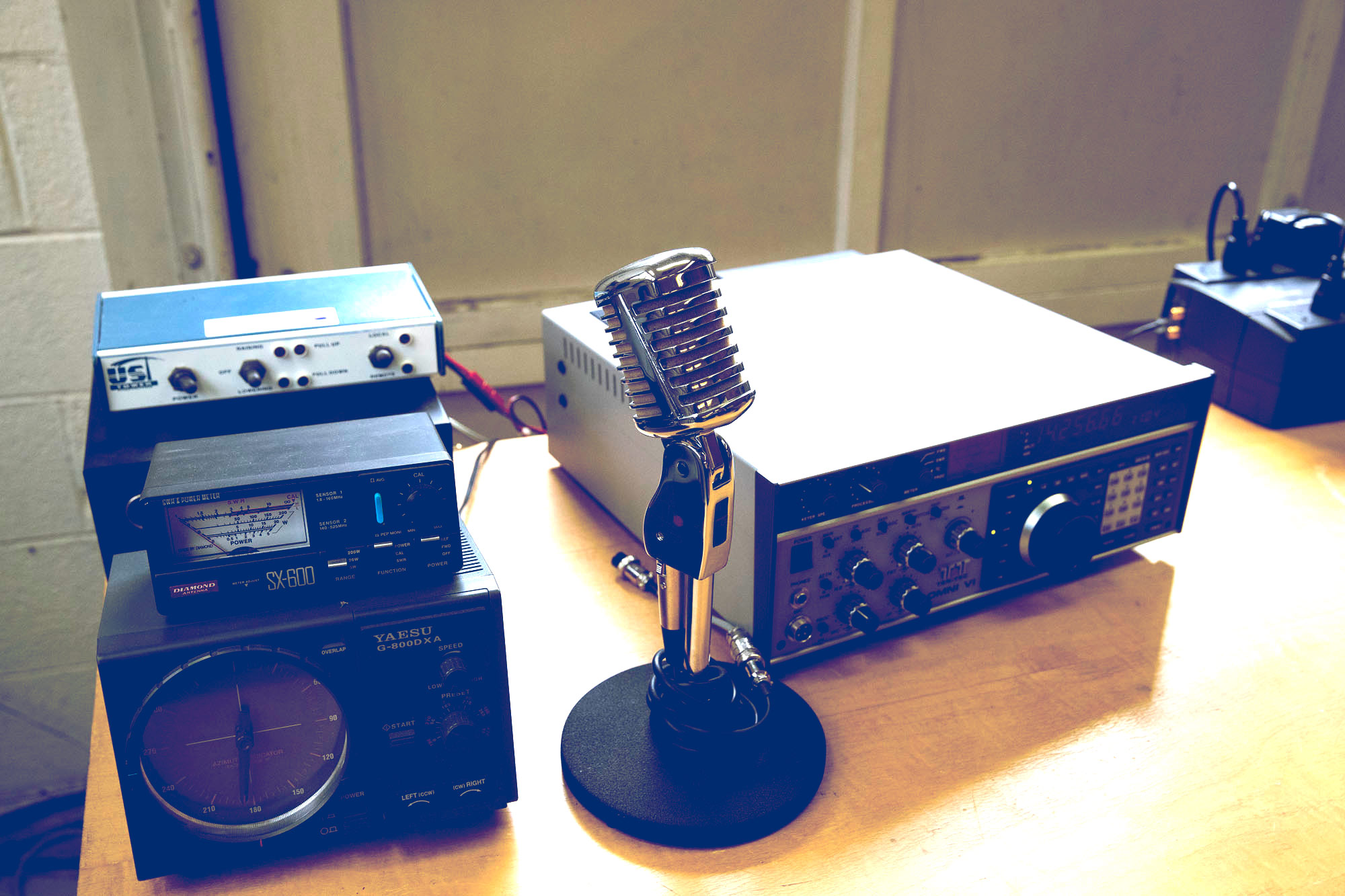 The UVA Amateur Radio Club's equipment is housed in the University's old nuclear reactor building.