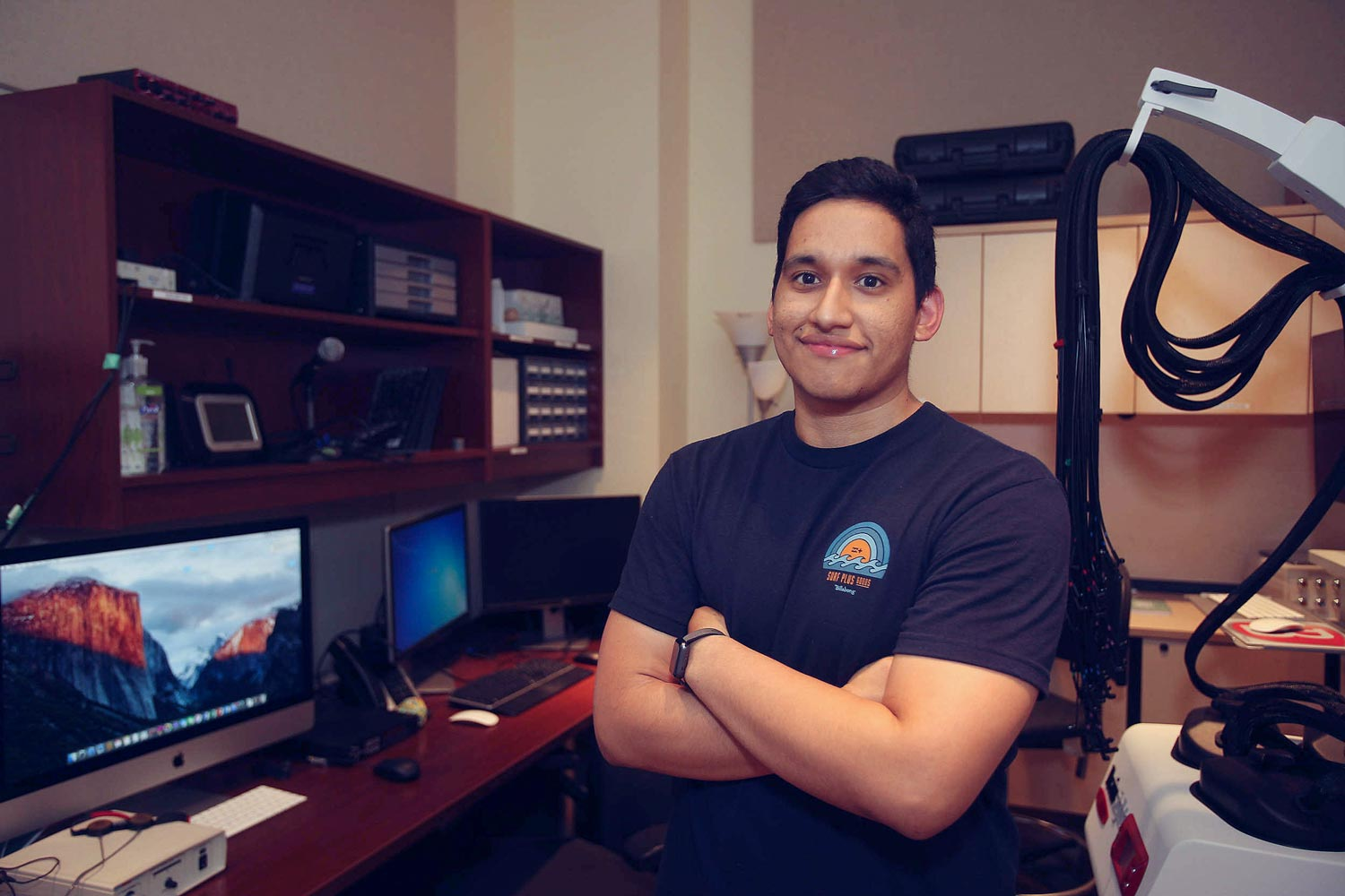 Jesus Gomez will graduate with a degree in speech communications disorders from the Curry School of Education.