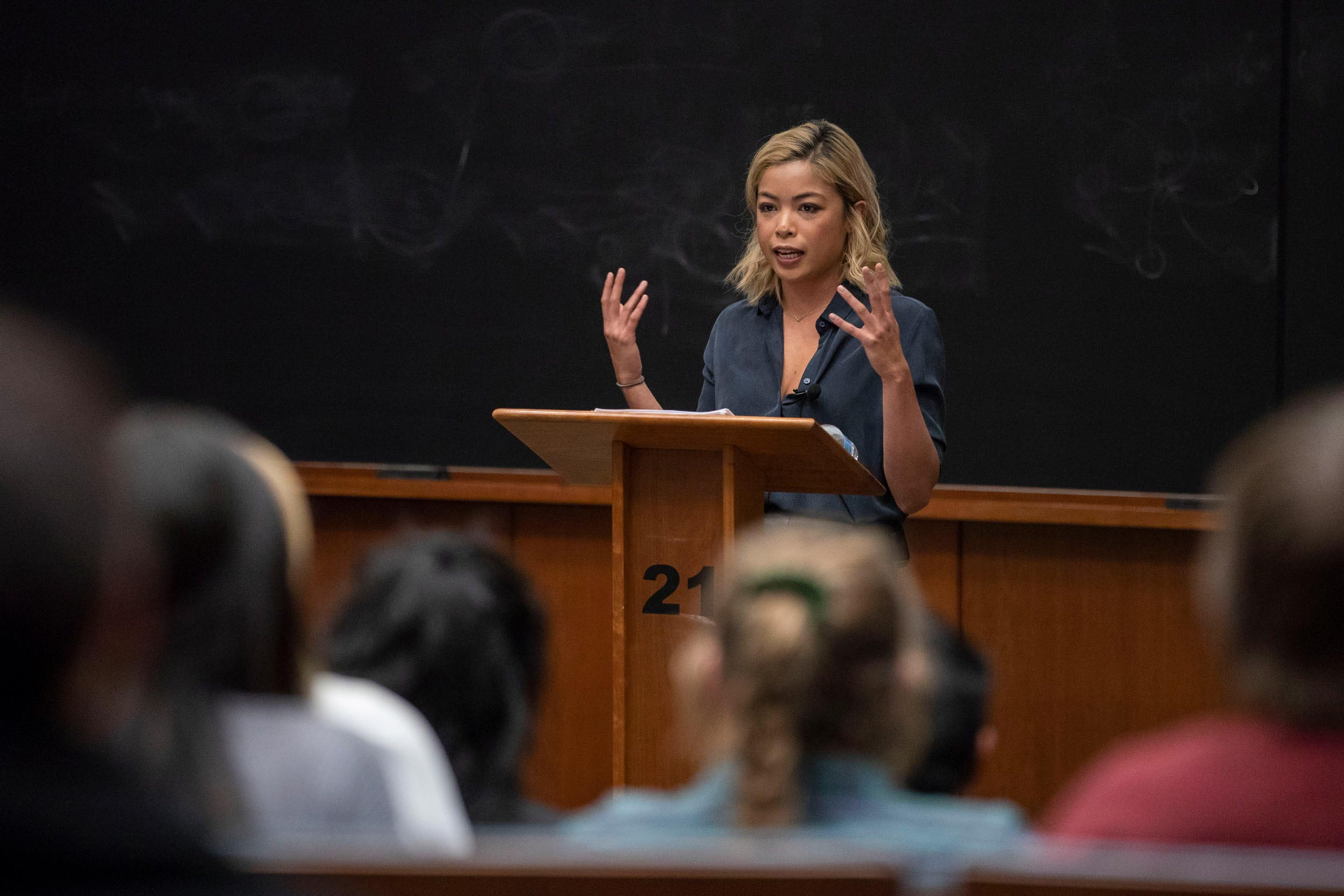 """Alumna Jia Tolentino is a staff writer for The New Yorker. Her first book, the essay collection """"Trick Mirror,"""" will publish in August."""
