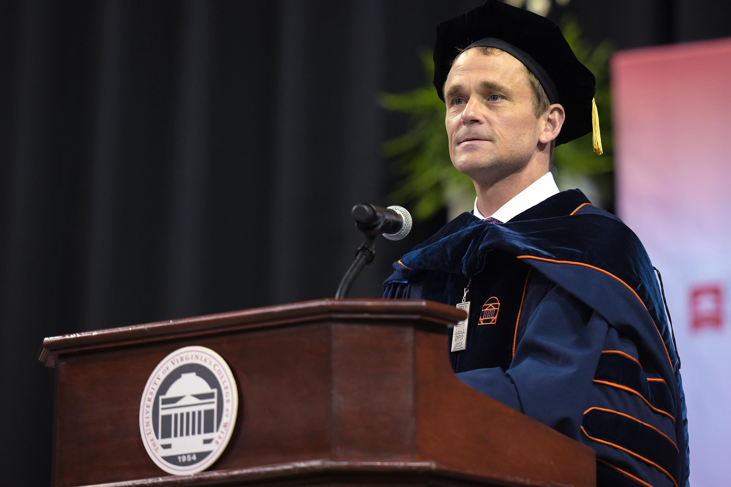 UVA President Jim Ryan applied themes from the Cavalier basketball team's national championship run to the journeys of UVA-Wise graduates in his graduation address last week.