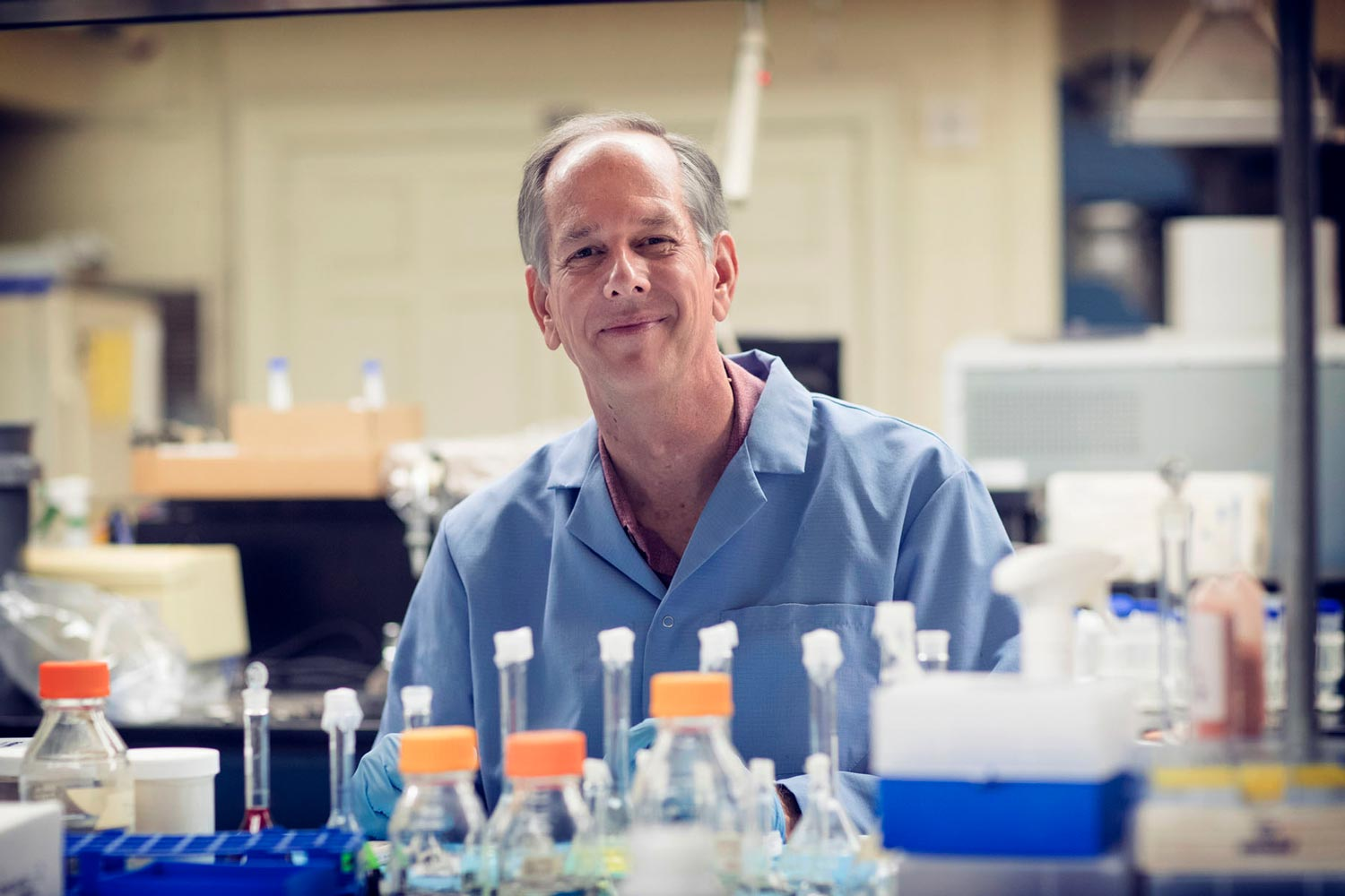 Civil and environmental engineering professor Jim Smith developed MadiDrop+ in his UVA lab.