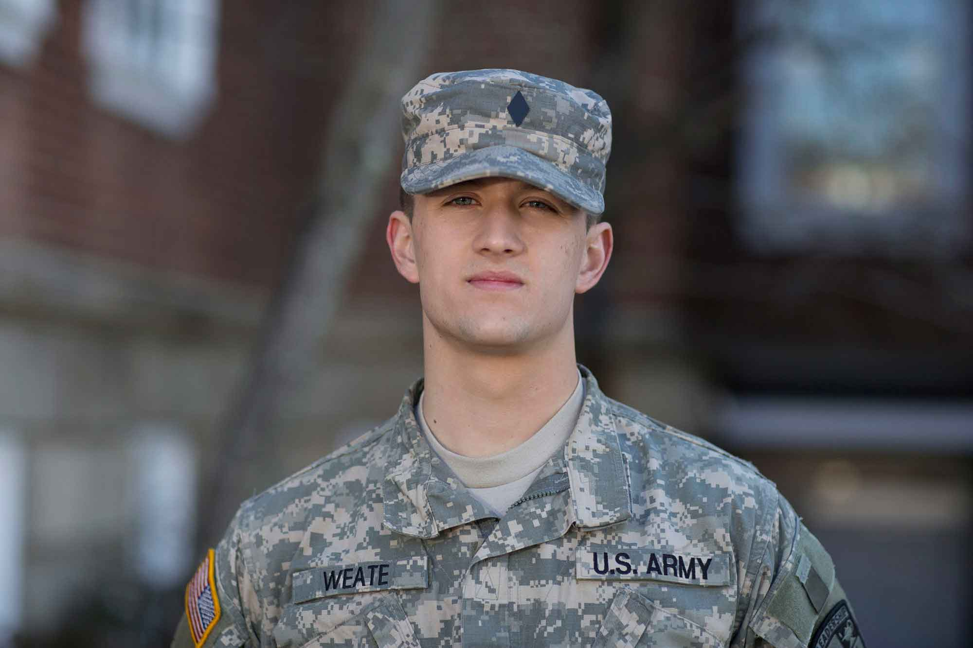 Army ROTC cadet and soon-to-be computer engineering graduate Joseph Weate will be fighting for his country on a new battlefield: cyberspace.