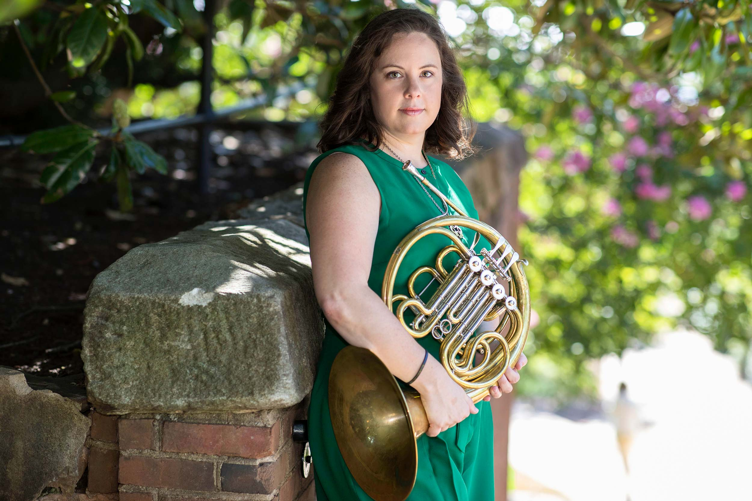 Katy Ambrose is an assistant professor of performance in UVA's McIntire Department of Music and an acclaimed French horn player.