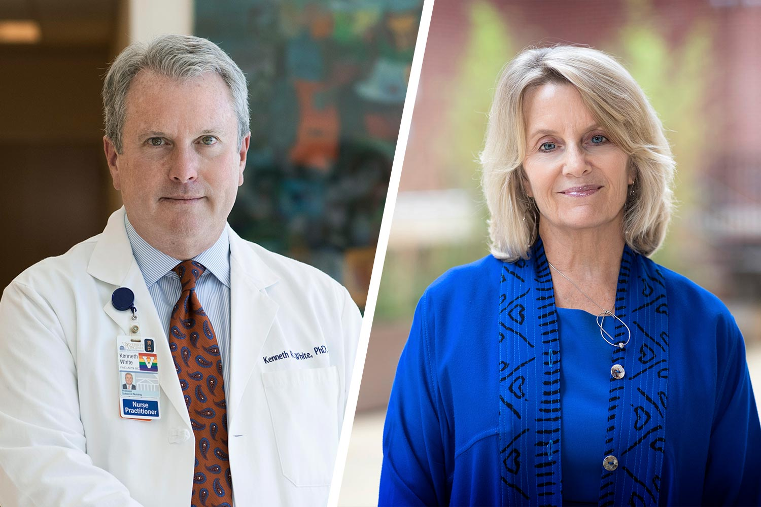 Kenneth White, the Nursing School's associate dean for strategic partnerships and innovation, and Clareen Wiencek, an associate professor of nursing, are teaching the palliative care courses.