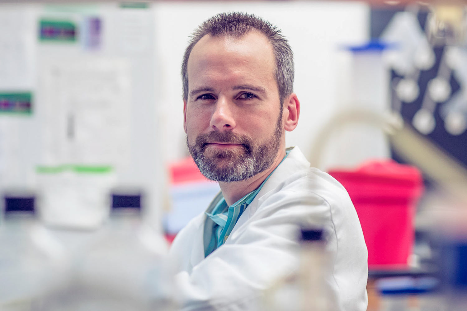 Biomedical engineering professor Kevin Janes and colleagues are looking for an end-around path to solving the triple-negative breast cancer puzzle.