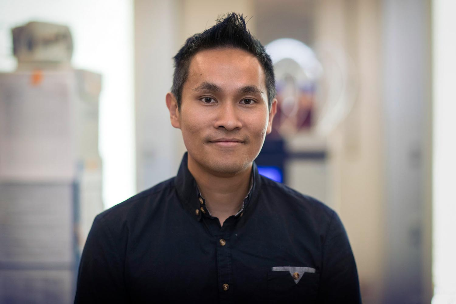 Ken Hsu is researching ways to employ the body's immune system to fight melanoma. (Photo by Dan Addison, University Communications)