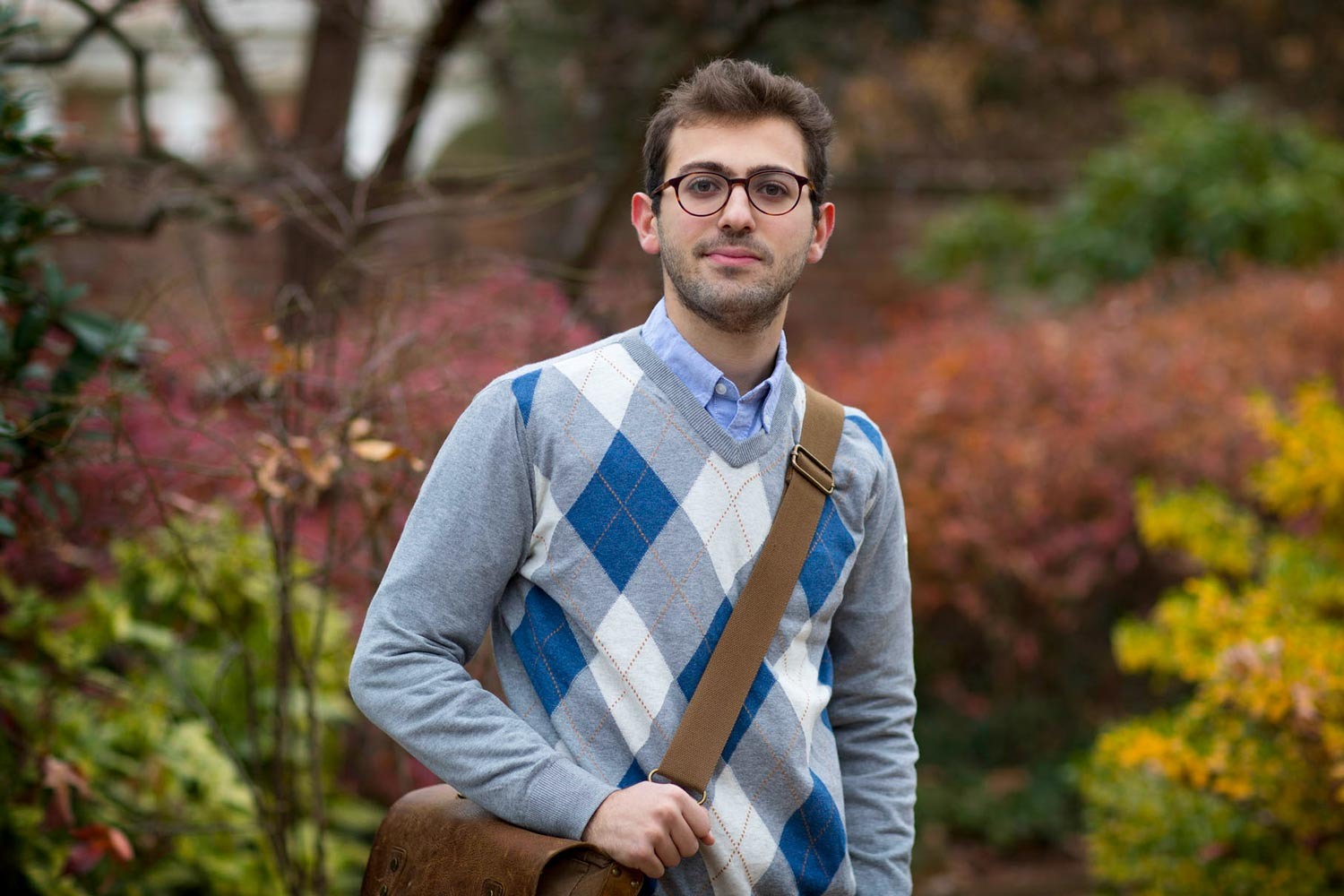 Leon Yacoubian vowed to do something to help the Armenian people, even as he pursues his undergraduate degree at UVA. (Photo by Dan Addison, University Communications)
