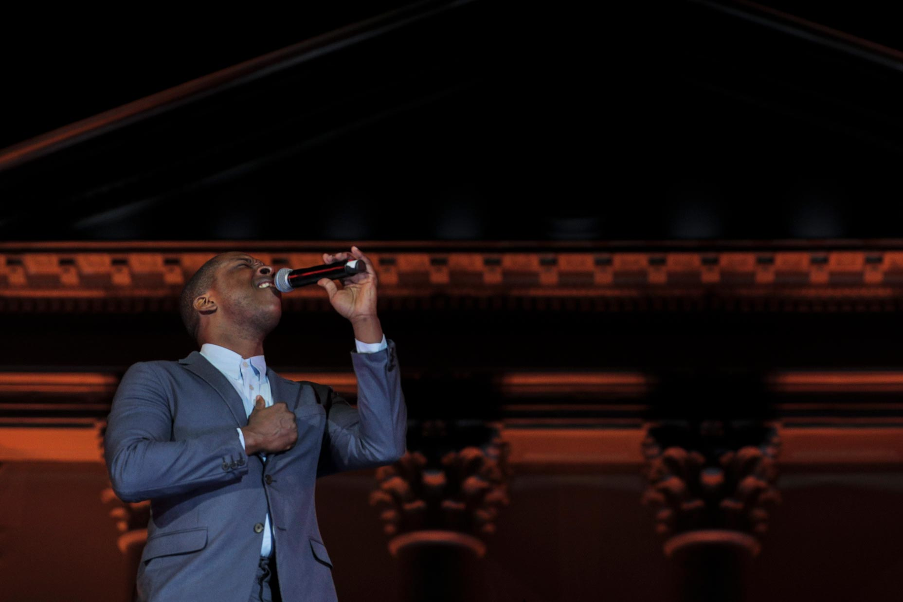 """Leslie Odom Jr. performed a medley of """"Hamilton"""" hits and songs from his album at UVA's bicentennial celebration in 2017 and is set to return to UVA this weekend."""