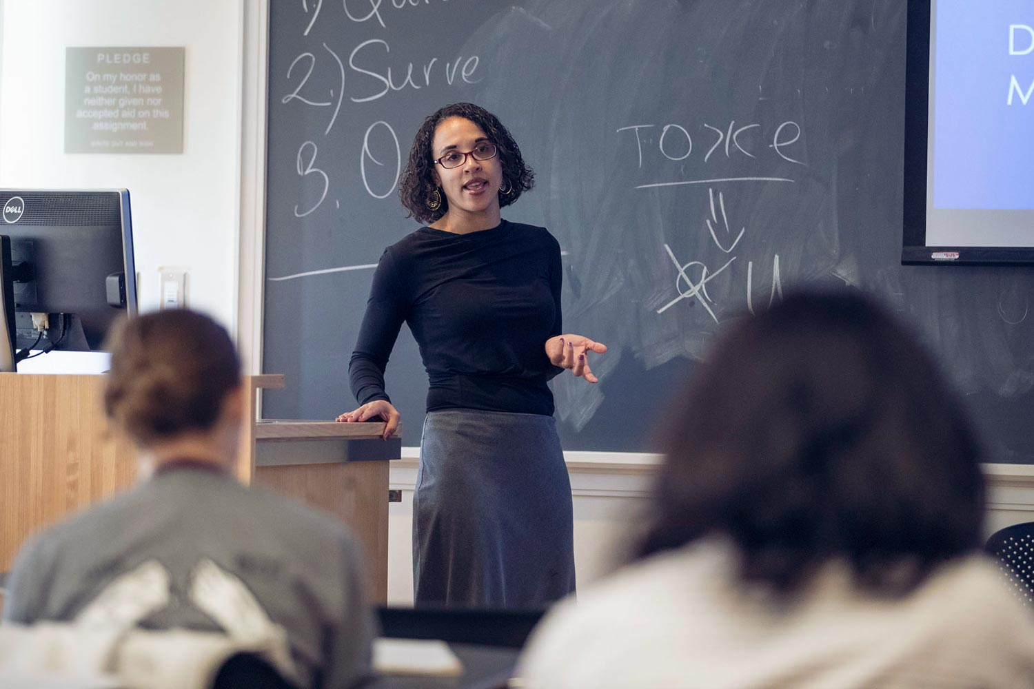 """Marlene Daut, a new member of the Woodson Institute faculty, teaches """"America in the Age of Revolution,"""" as well as """"American Colonialism and Post-Colonial Theory."""""""