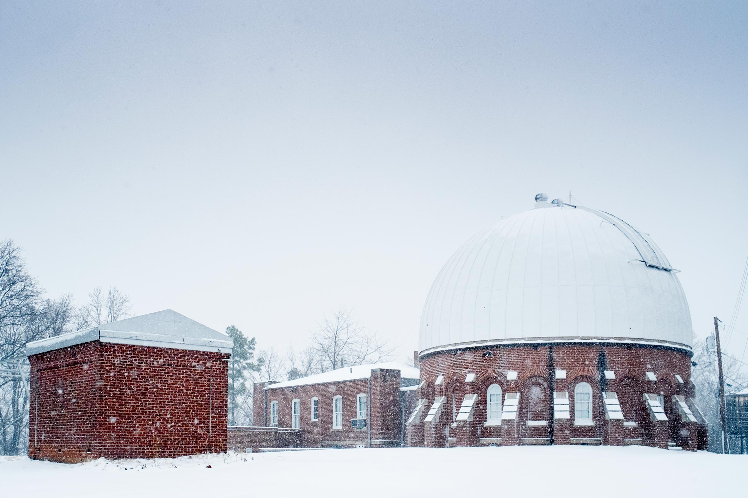 UVA has been capturing weather data on at McCormick Observatory on Grounds for decades - the oldest records go back to the 1880s. (File photo by Sanjay Suchak, University Communications)