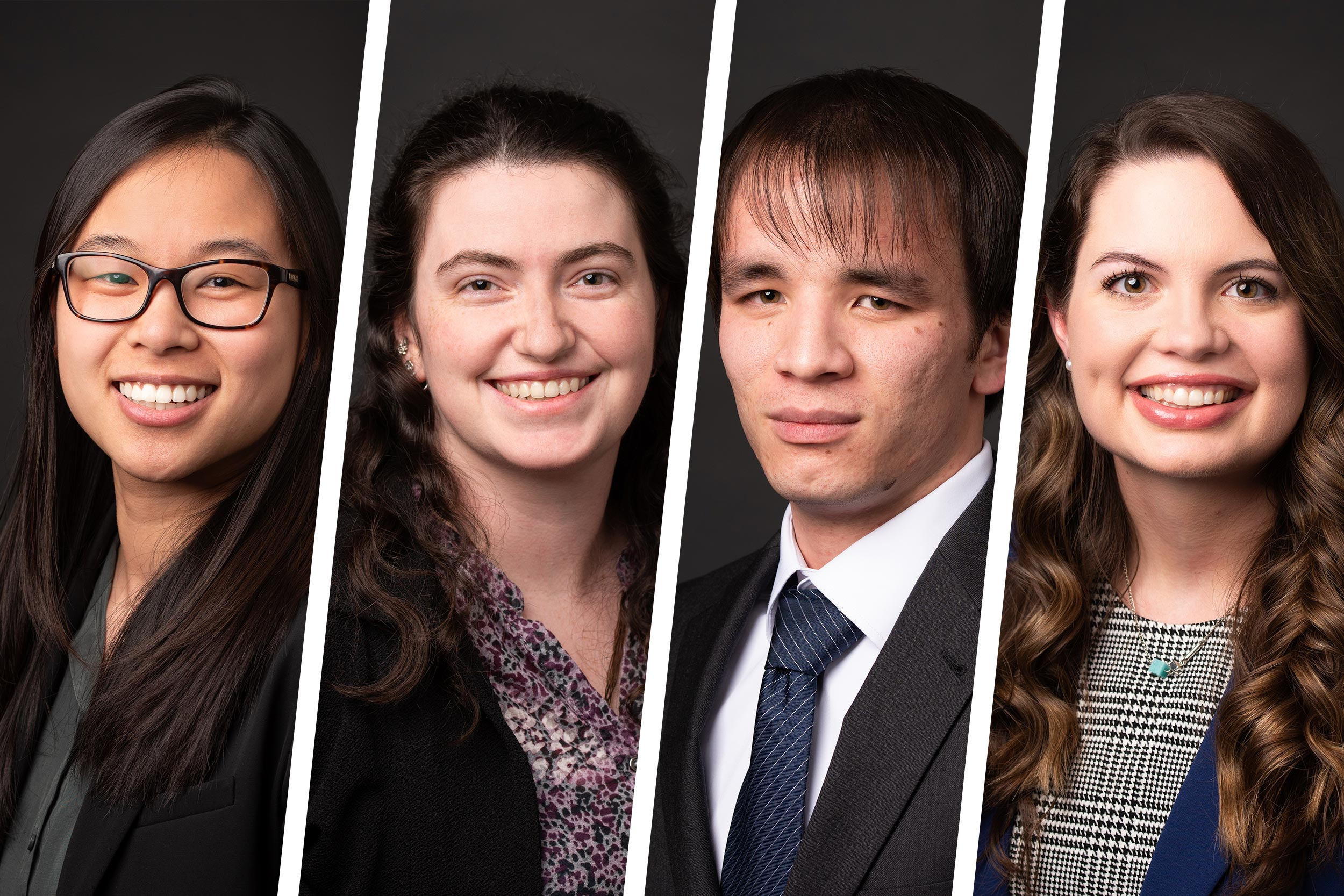 Irene Cheng, Danielle DaCrema, Chris Fu and Kassandra Grimes, are Mirzayan Fellows at the National Academies of Sciences, Engineering and Medicine.