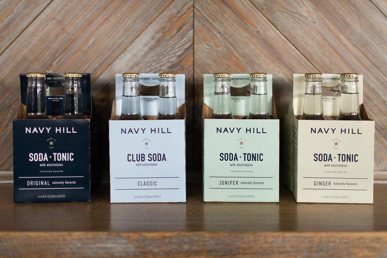 """Alumni Jenny Lucas and Katie Williams have created Navy Hill, a line of """"sonic"""" water, combining tonic water with club soda."""