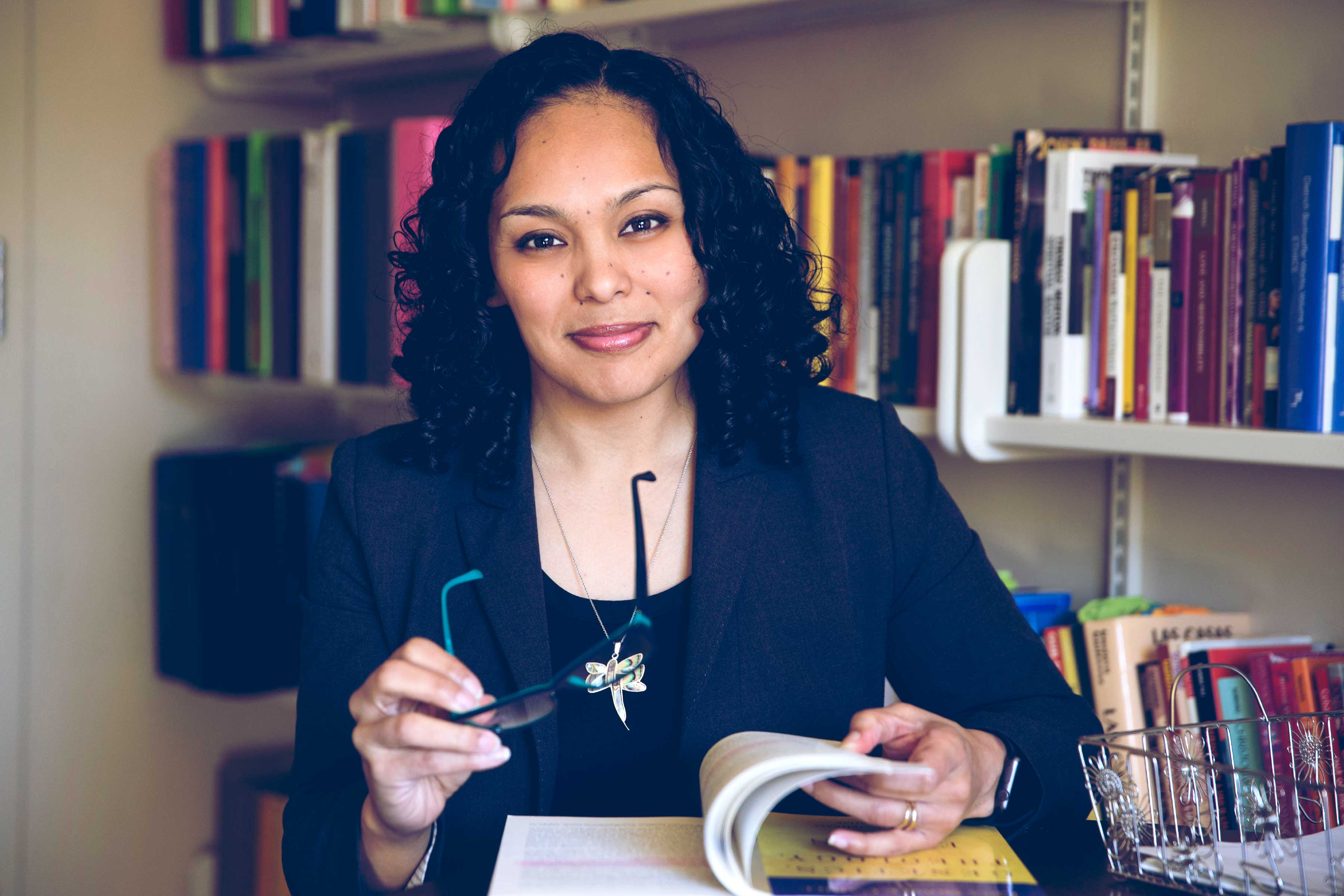 Professor Nichole Flores joined UVA's Department of Religious Studies in 2015. (Photo by Dan Addison, University Communications)