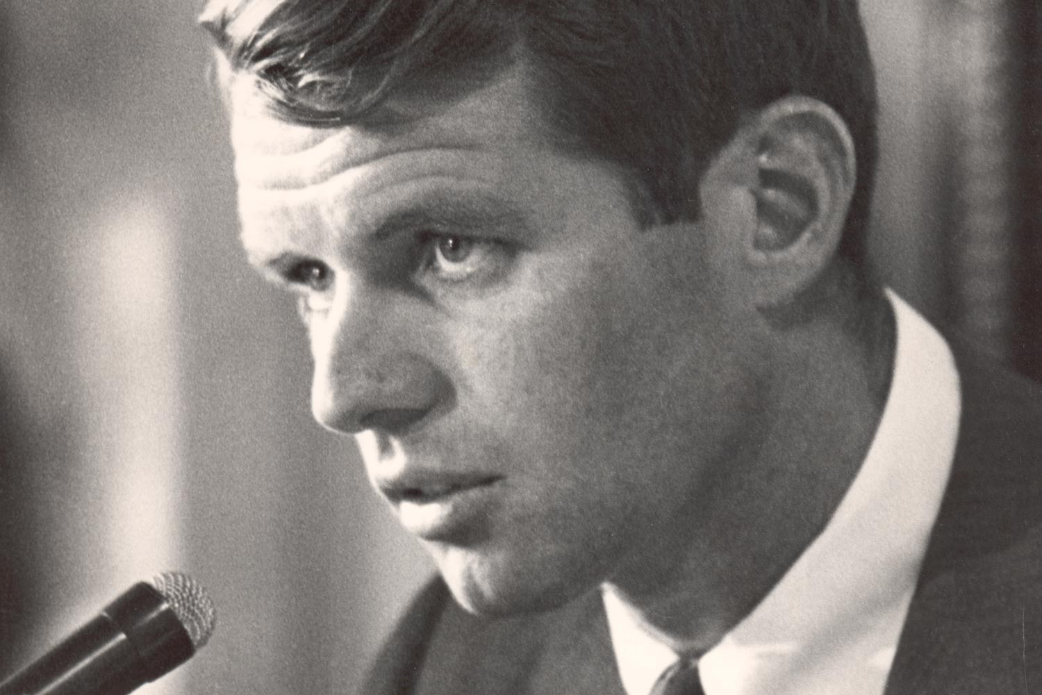 Robert F. Kennedy spoke at the Law School in this undated photograph.