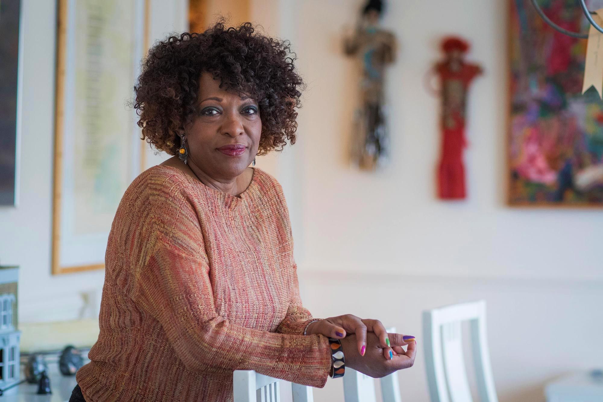 """Rita Dove's poem """"Wingfoot Lake"""" appears on giant a stage screen as U2 concert-goers enter the stadium, one of several in the pre-show audiovisual program."""