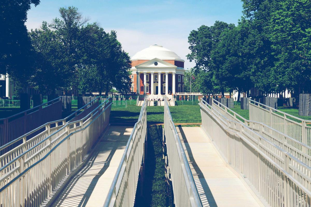 After being off-limits for two years, the steps and terraces of the Rotunda will open temporarily for Final Exercises this weekend.