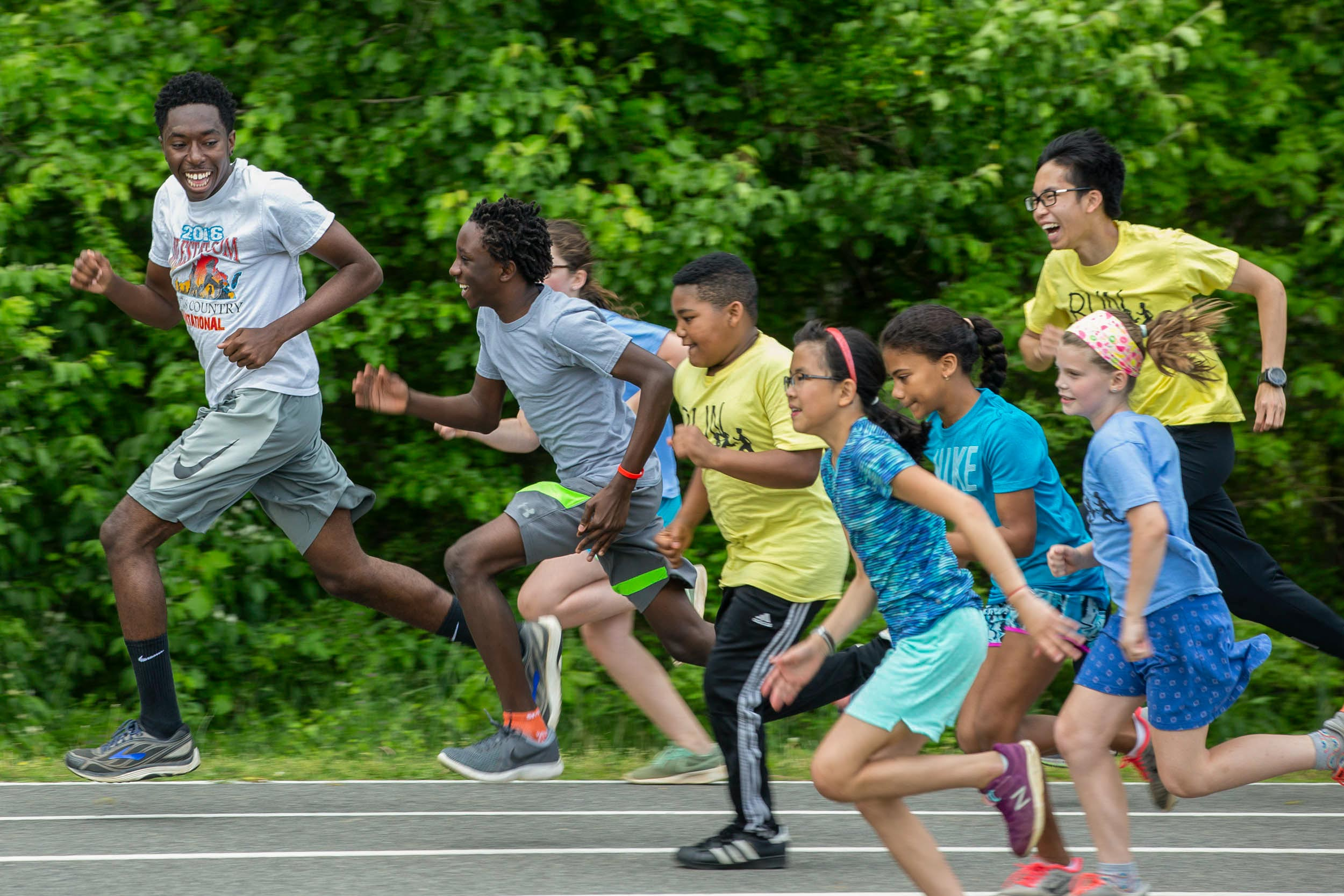 UVA students and Charlottesville children were off to the races for Sunday's final Run Charlottesville event.