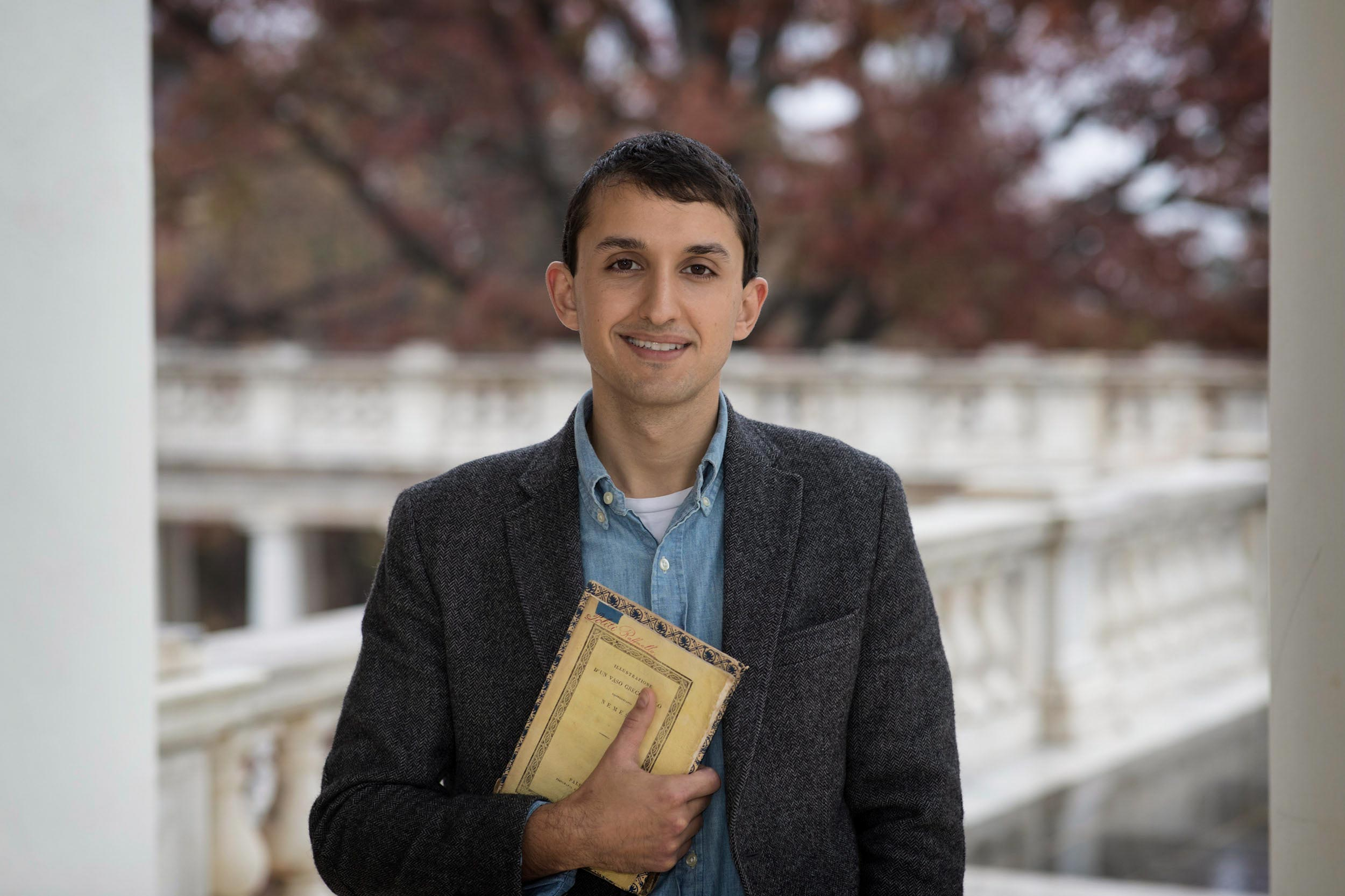 Samuel V. Lemley, a Ph.D. student in English, built an award-winning book collection of items from Sicily, where his maternal ancestors came from.