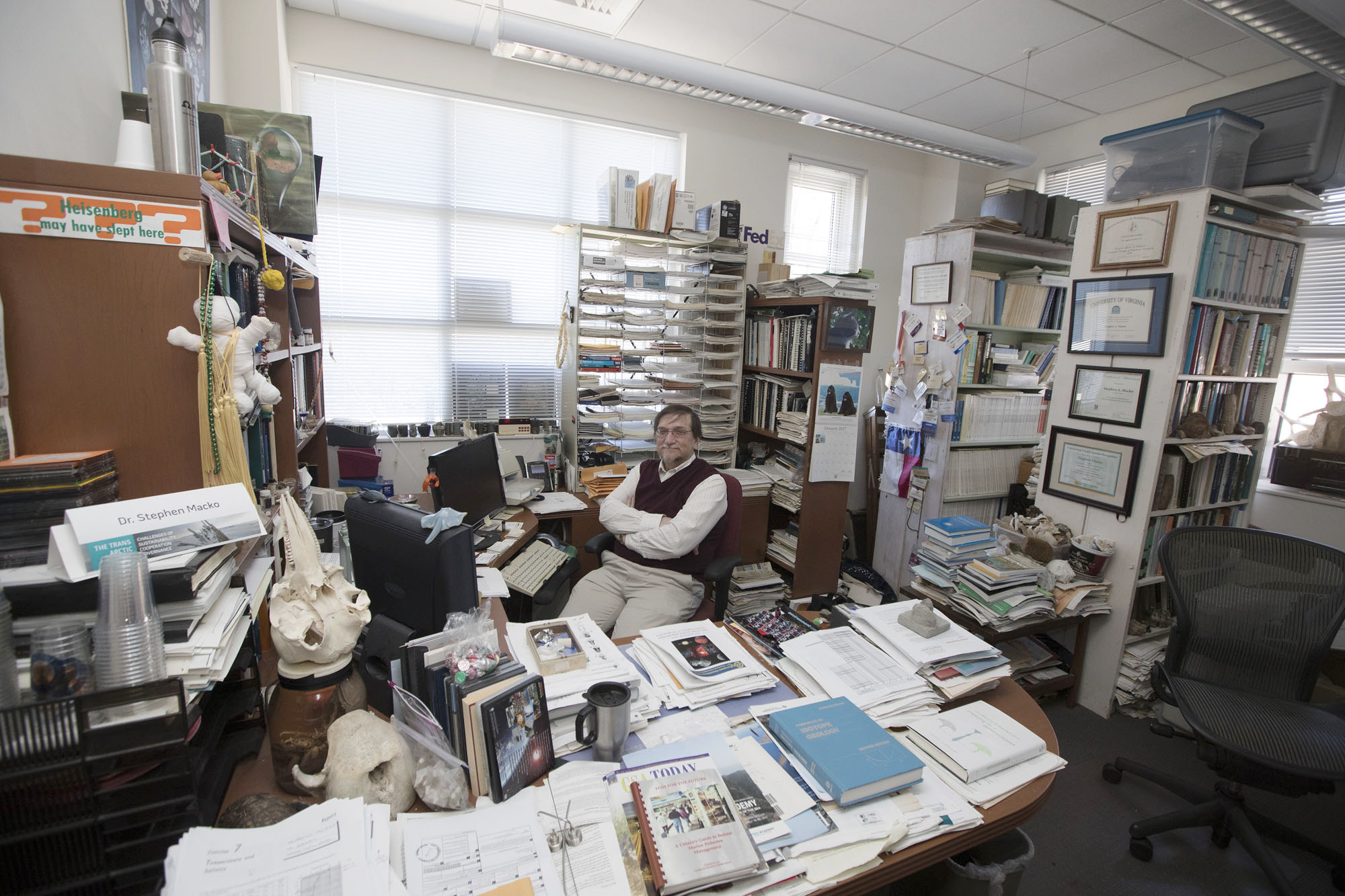 The Macko Museum of Natural History, and its curator, environmental scientist Stephen Macko.