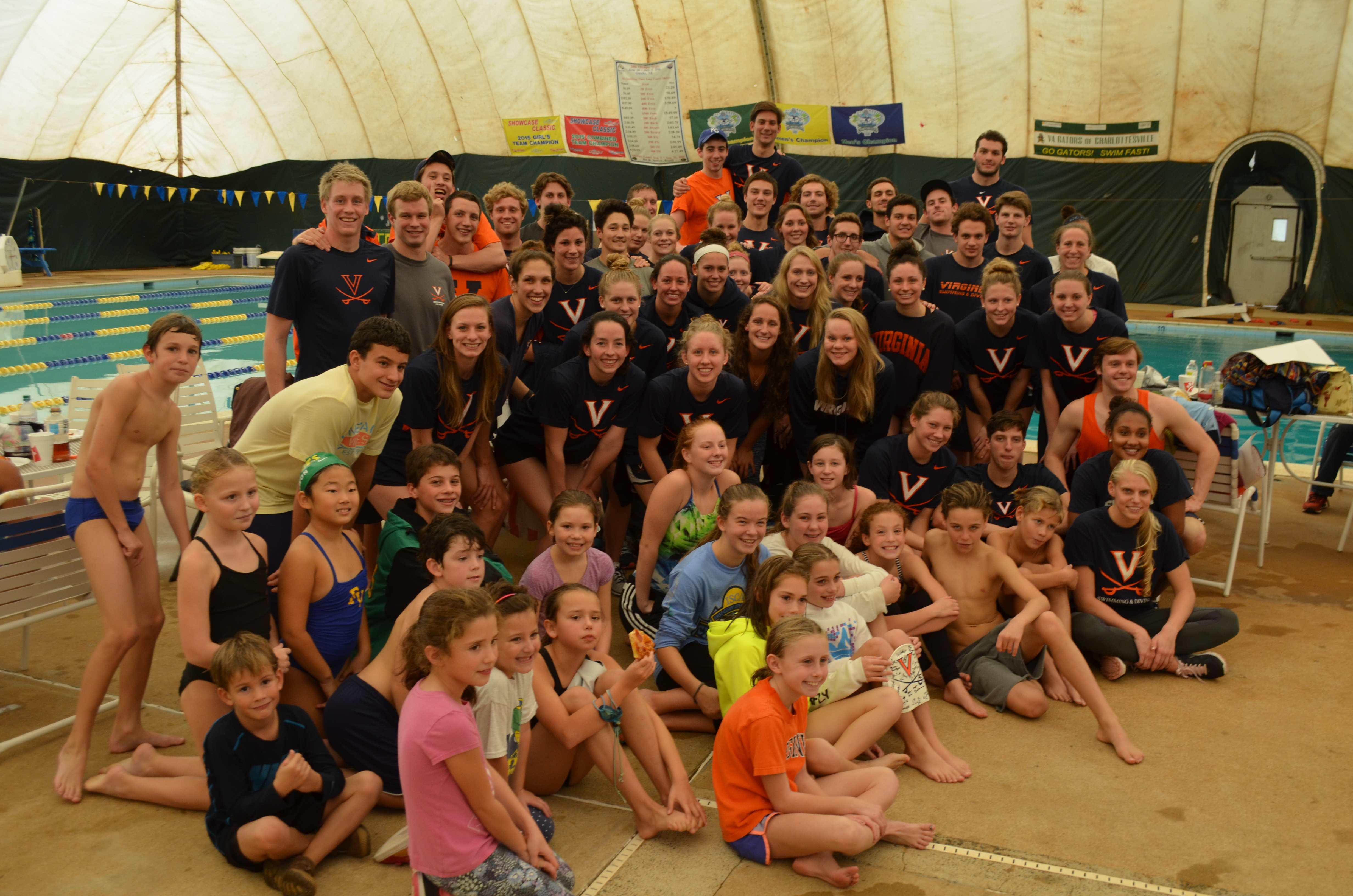 UVA and youth swimmers