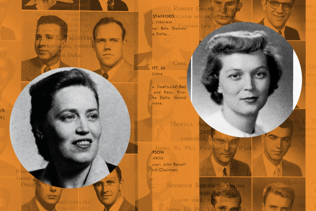 Mother and daughter Ruth and Elizabeth Taliaferro, pictured in their Barrister yearbook photos. Although the women briefly attended the Law School together, their accomplished lives took separate paths.