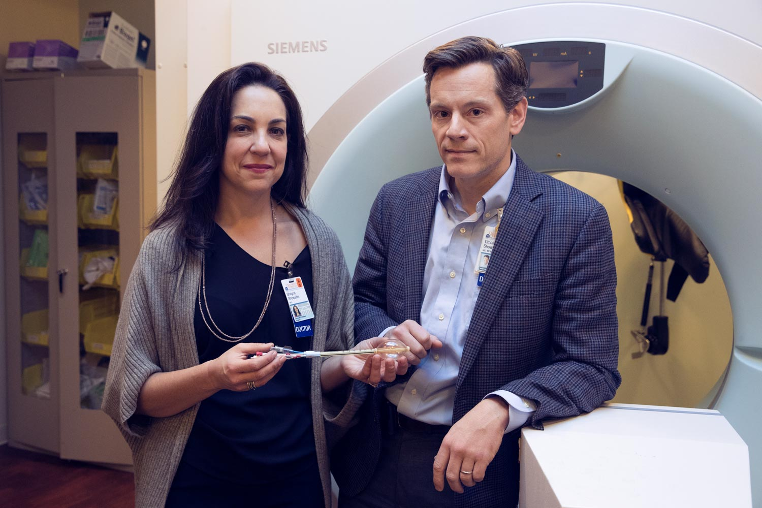 Drs. Shayna and Tim Showalter are leading an interdisciplinary effort to evaluate their new radiation approach for treating early-stage breast cancer.