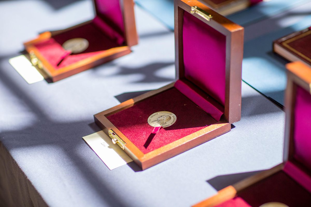 Each year, UVA and the Thomas Jefferson Foundation at Monticello present the Thomas Jefferson Foundation Medals to global leaders in many different fields. (Photo by Sanjay Suchak, University Communications)