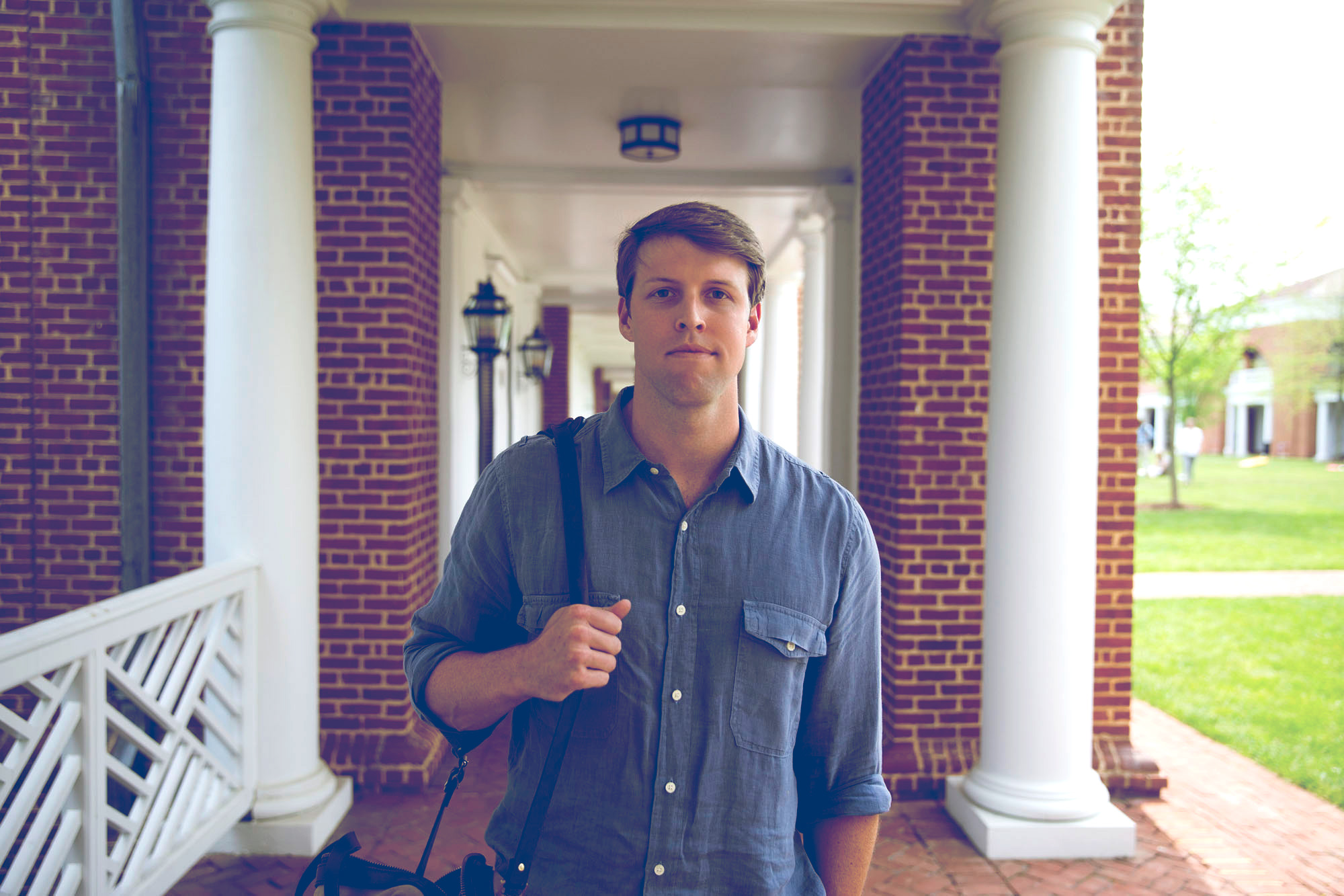 Tom Santi found his next career opportunity after professional football by returning to UVA and the Darden School. (Photo by Dan Addison)