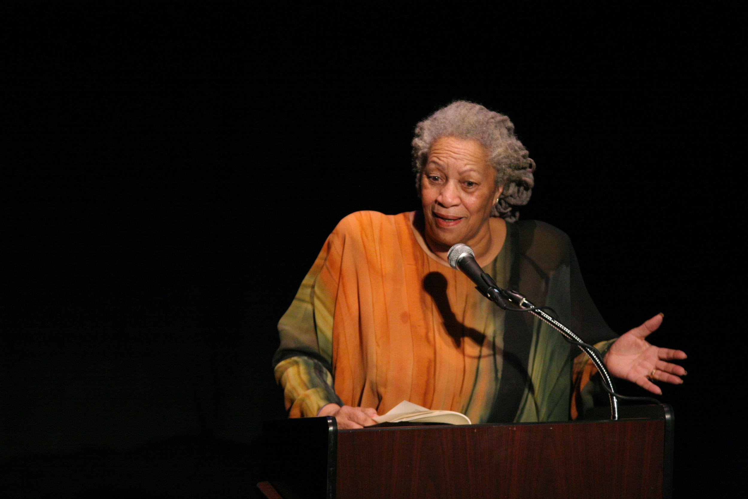 Following award-winning author Toni Morrison's death on Monday, English professor Deborah McDowell said Morrison (above, in 2008) was one of the most politically astute and philosophical writers this country has known.
