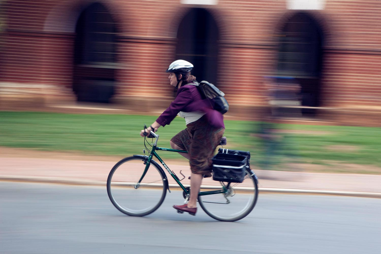 Bicycles are popular among faculty and students for moving around the University of Virginia.