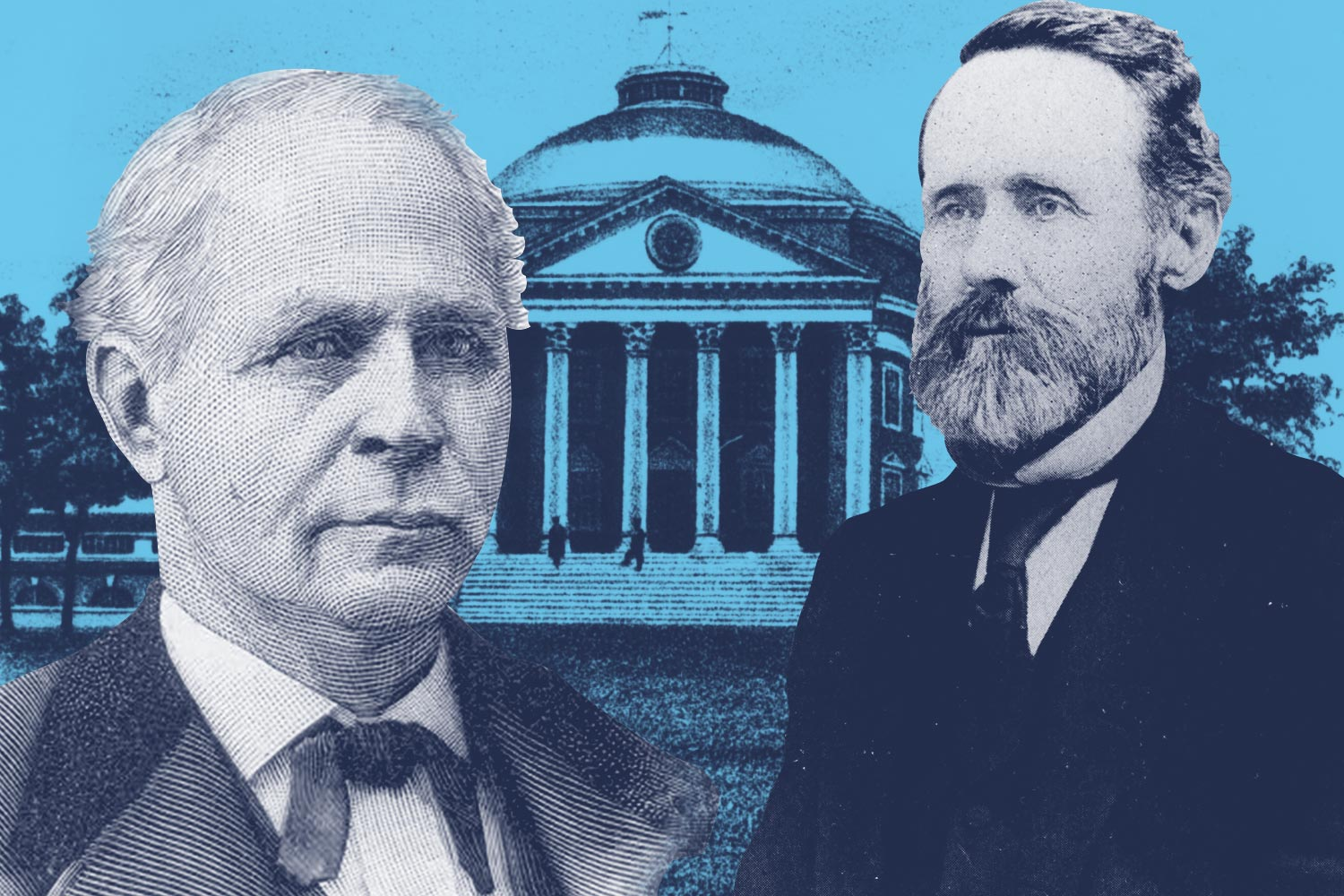 James O. Broadhead, left, owned slaves and served in the Missouri Secession Convention, where he argued against secession to protect slavery. William Fishback spoke out against secession, and escaped to Missouri after hostilities broke out.