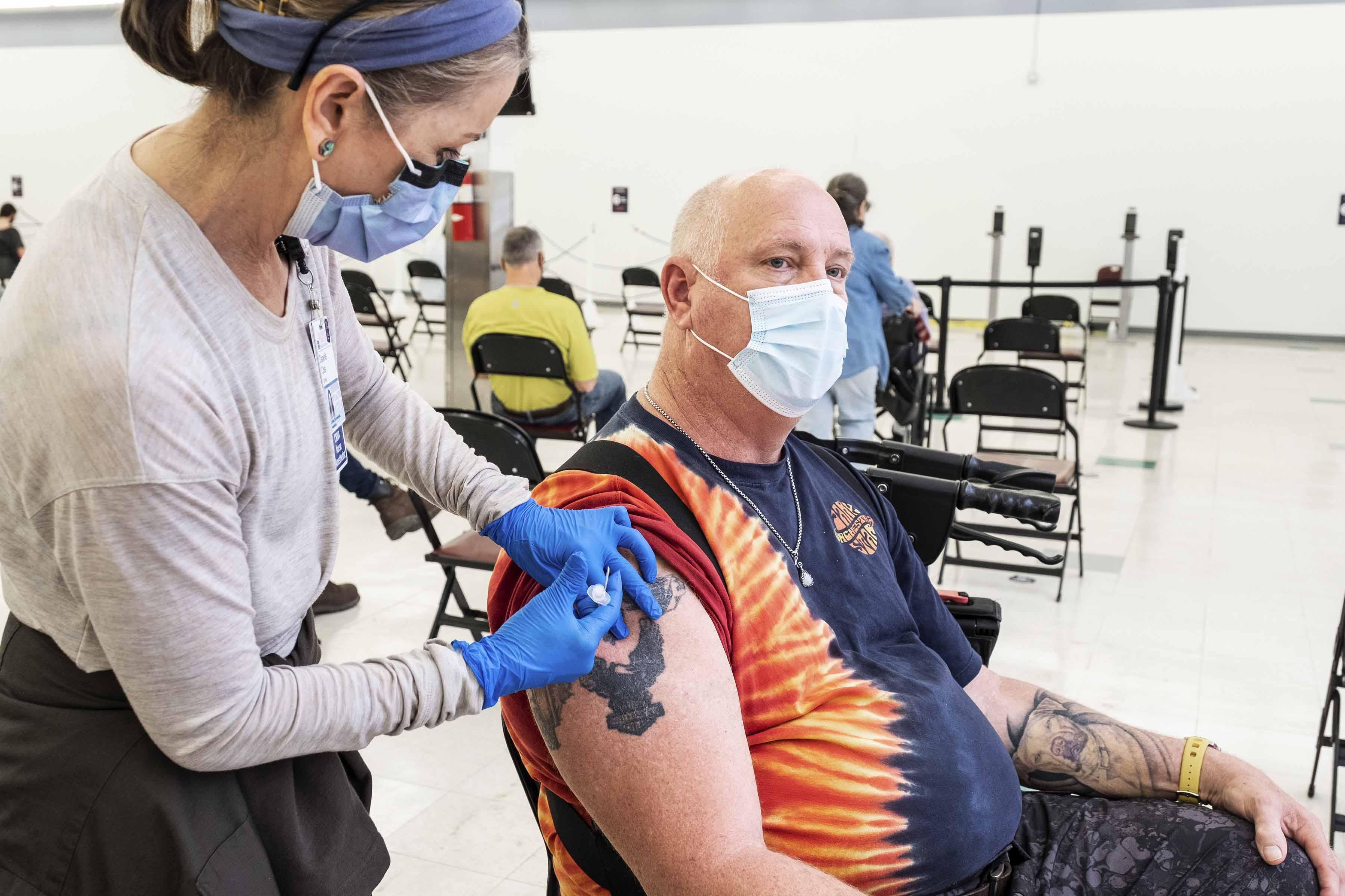 UVA Health Administers Its 100,000th COVID-19 Vaccine