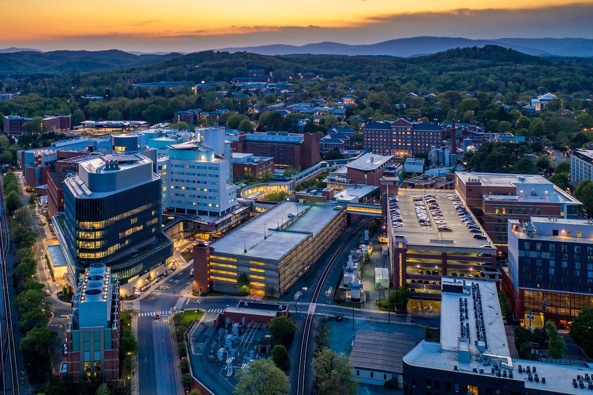 As an academic medical center, UVA Health can draw on resources across the University to help fight the COVID-19 pandemic. (Photo by Sanjay Suchak, University Communications)