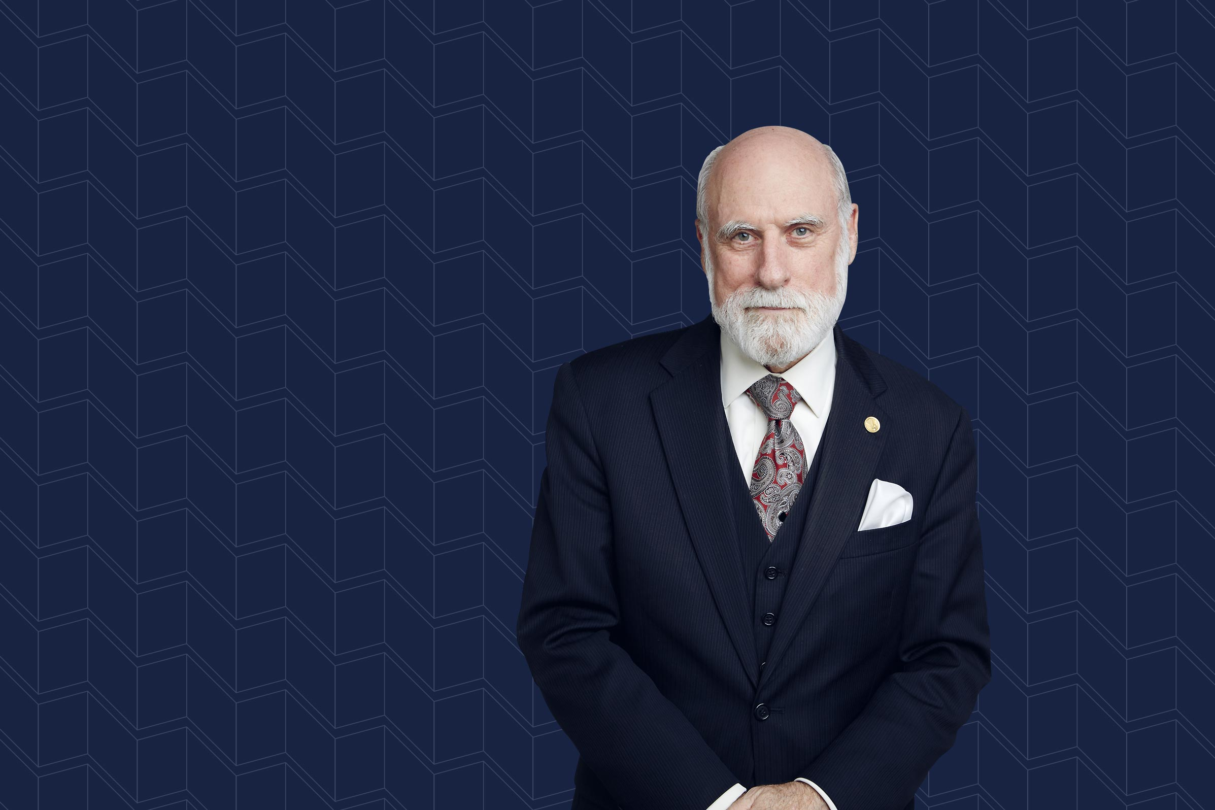Vinton G. Cerf now works for Google, identifying new technology that could support the next generation of internet-based products and services.