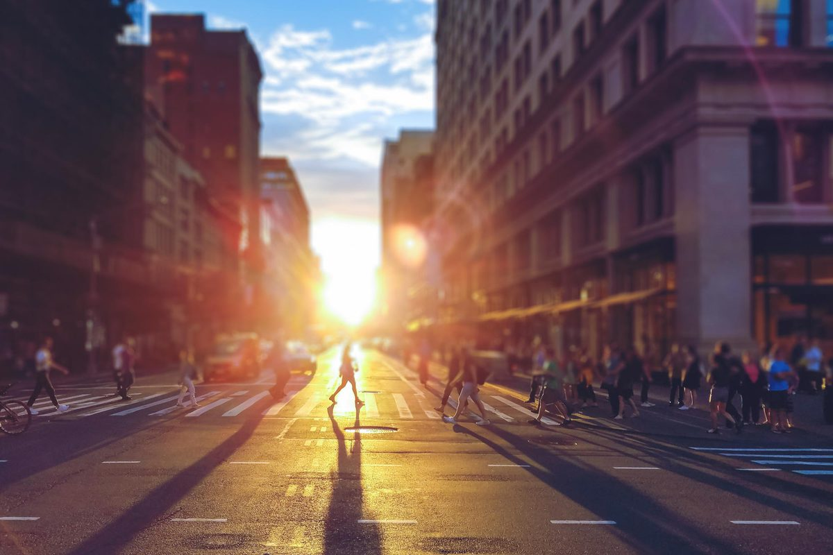 """""""We find that if you live in a walkable city, you feel like you belong,"""" said graduate psychology student Nicholas Buttrick."""