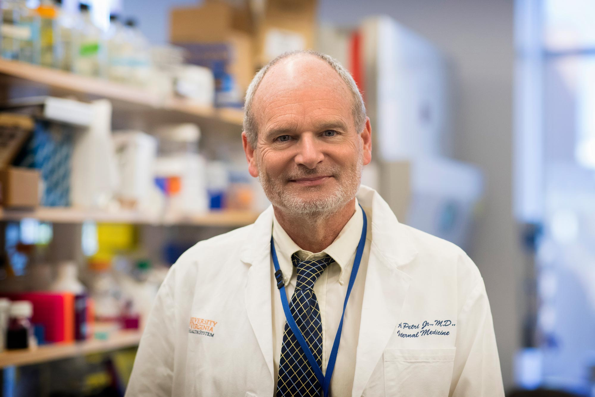 Dr. William Petri is the Wade Hampton Frost Professor of Medicine, vice chair for research in the Department of Medicine and a professor of infectious diseases and international health.