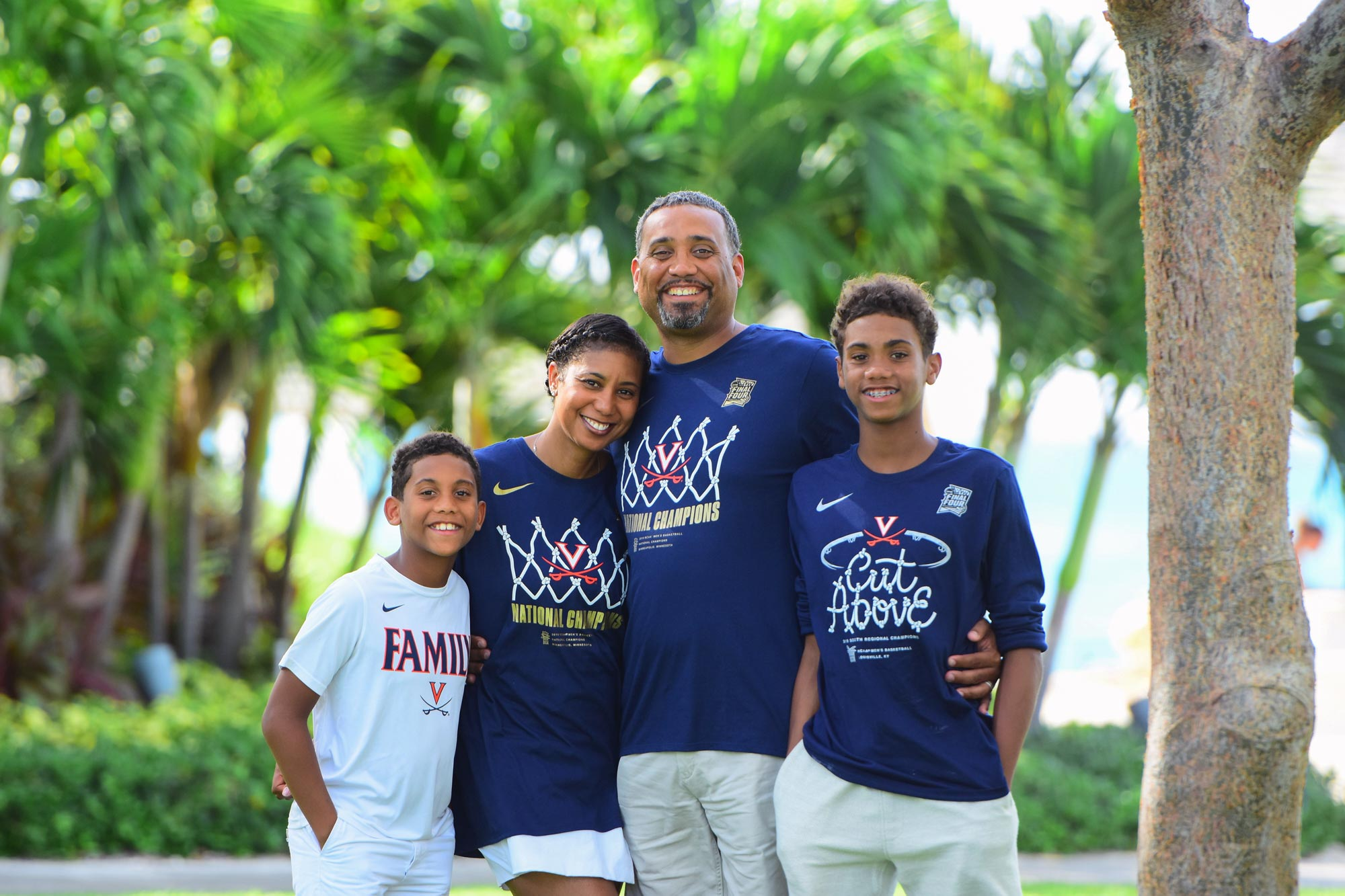 The Willifords with their sons, Cameron, left, and Austin, right, have a goal of raising $50,000 as part of Coaches vs. Cancer week, which ends Saturday.