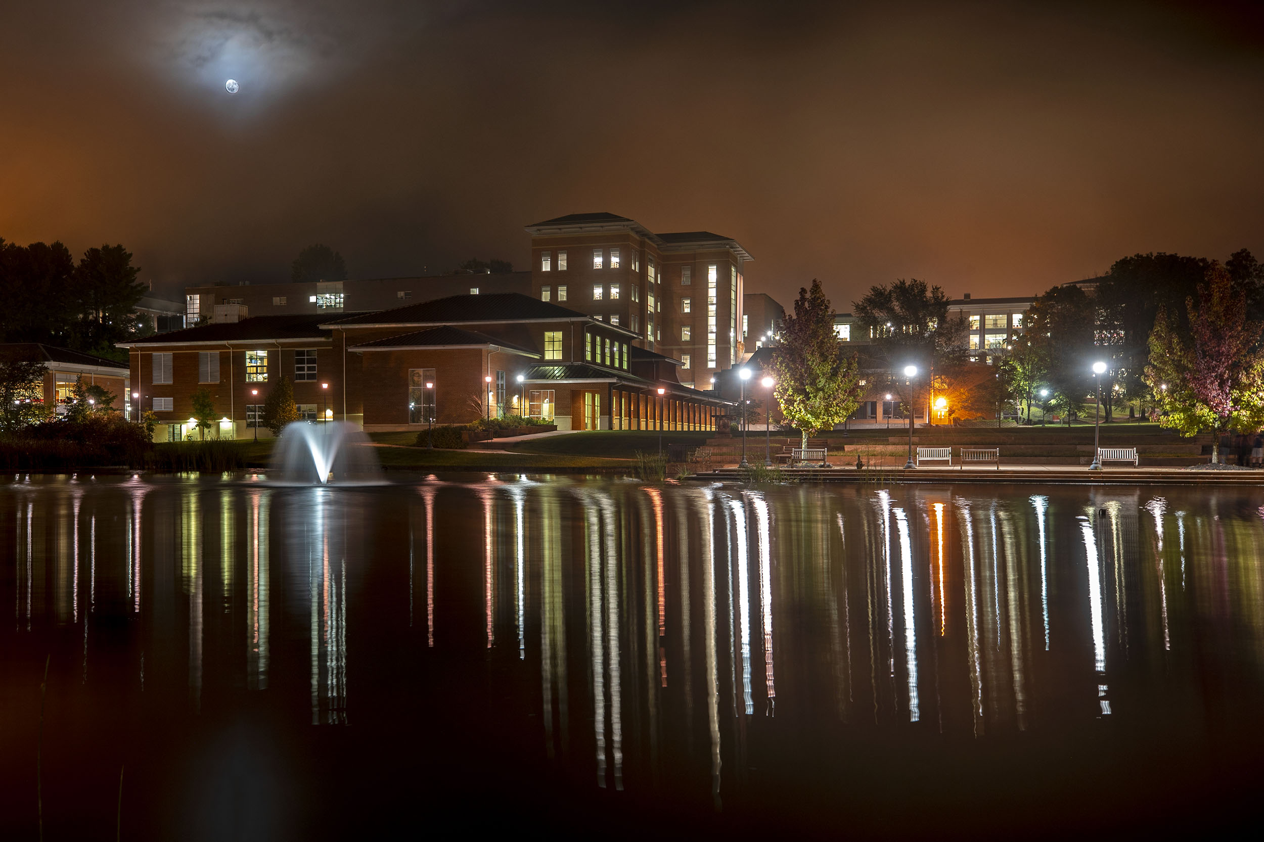 A Bigger Picture: UVA's College at Wise at Night
