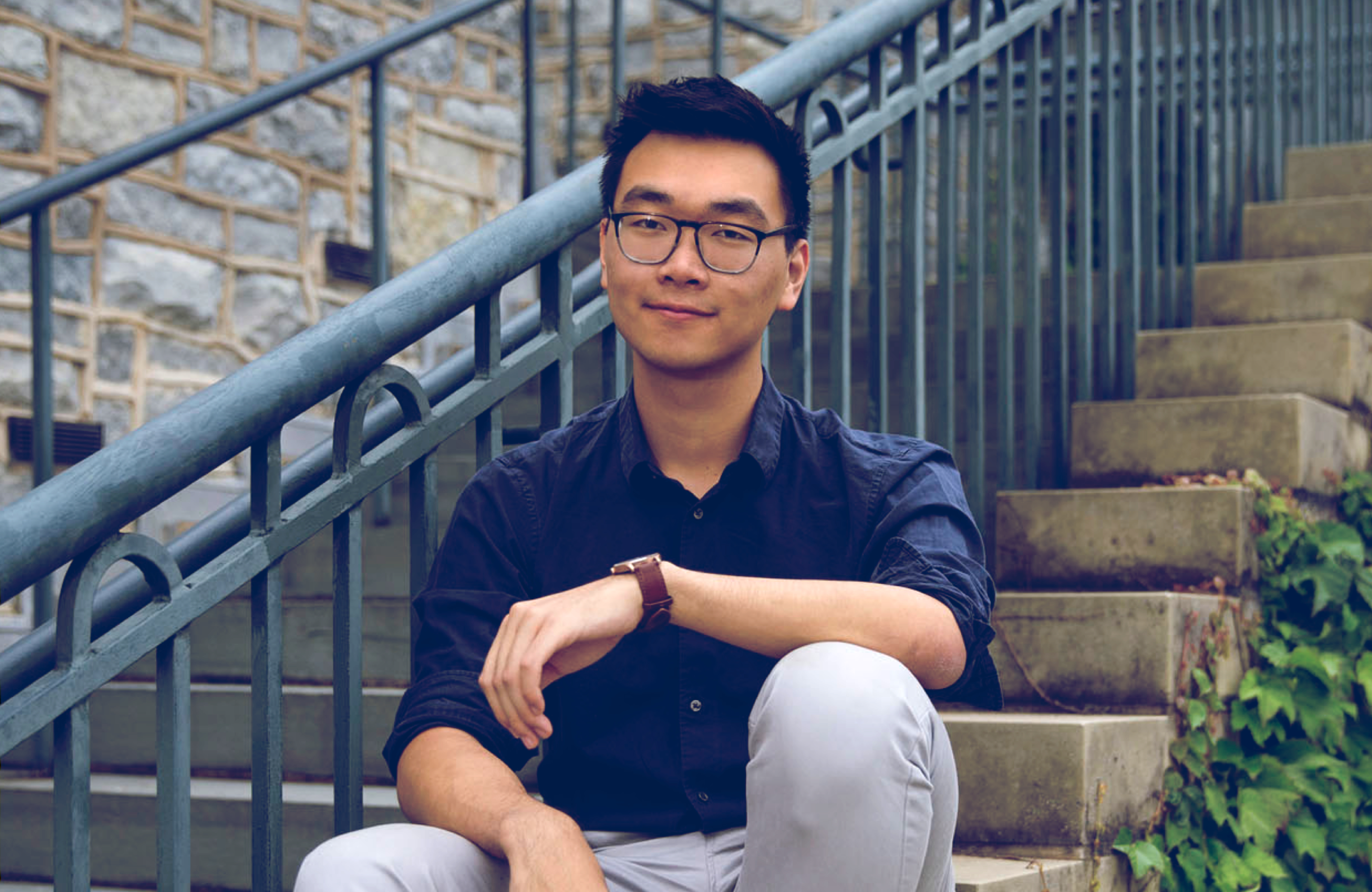 Arthur Wu is taking a job in New York at the data and technology firm Palantir, where he interned last summer.